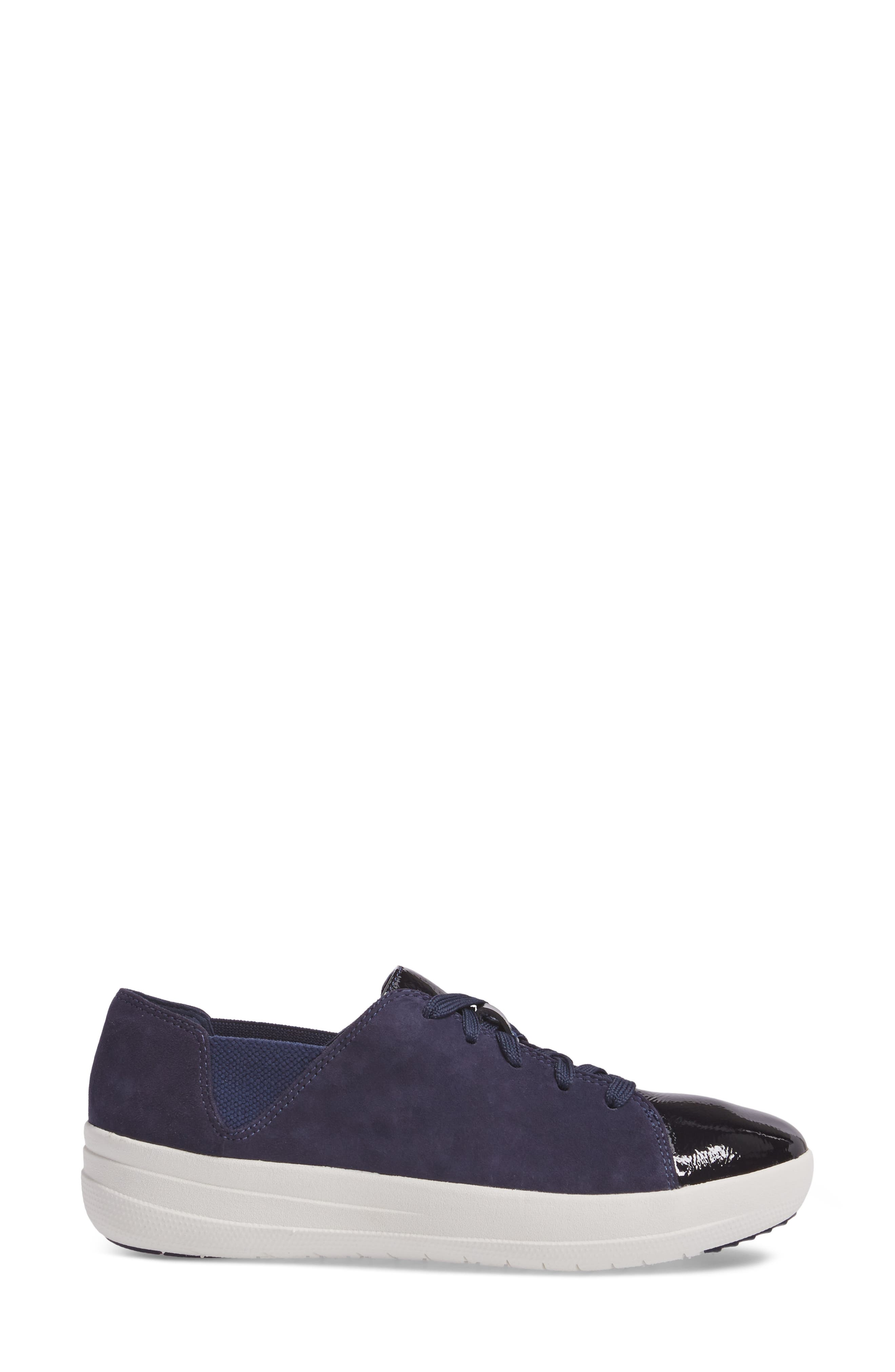 F-Sporty Sneaker,                             Alternate thumbnail 3, color,                             Midnight Navy Mix
