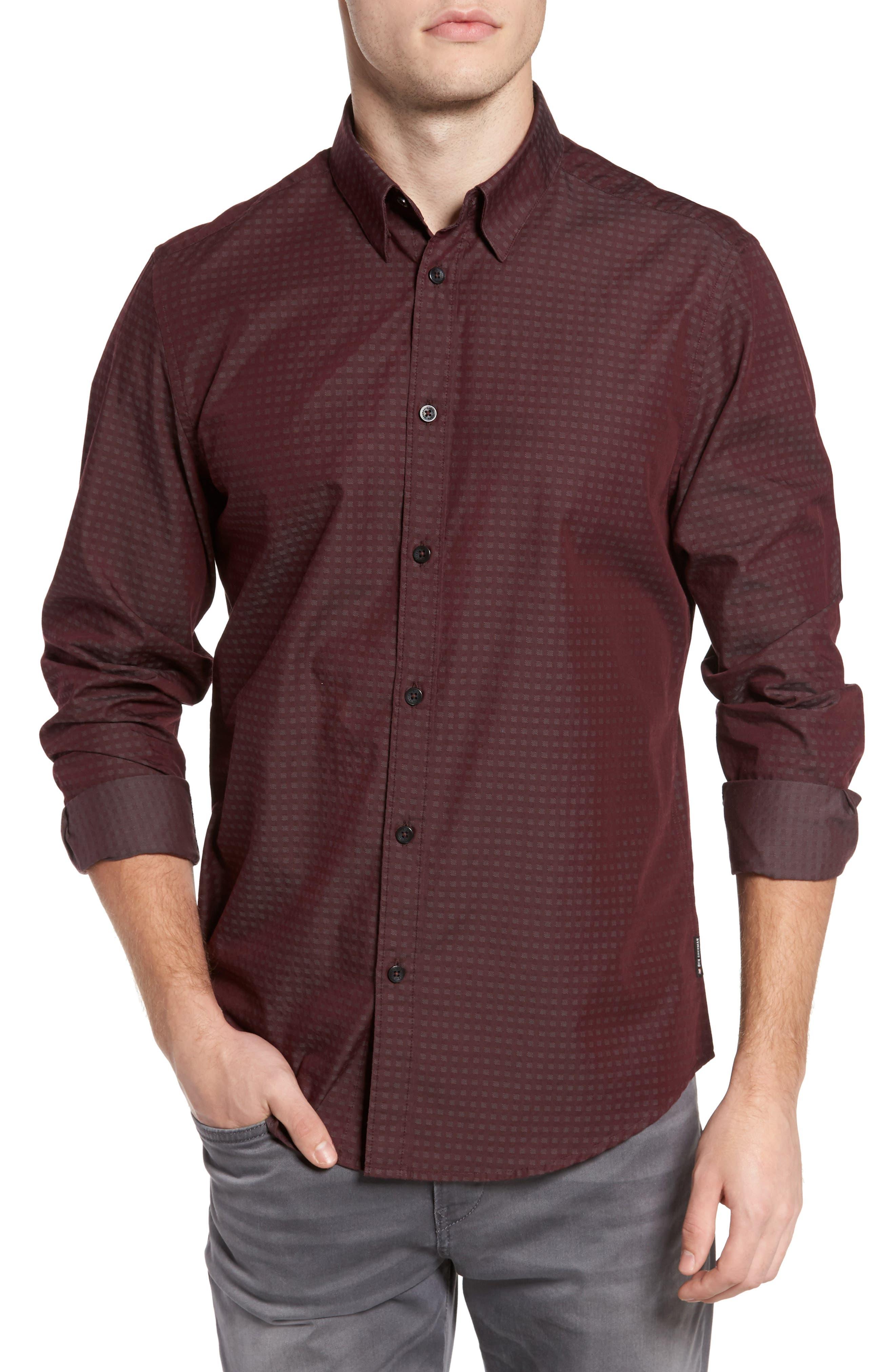 Main Image - Ben Sherman Dobby Checkerboard Woven Shirt