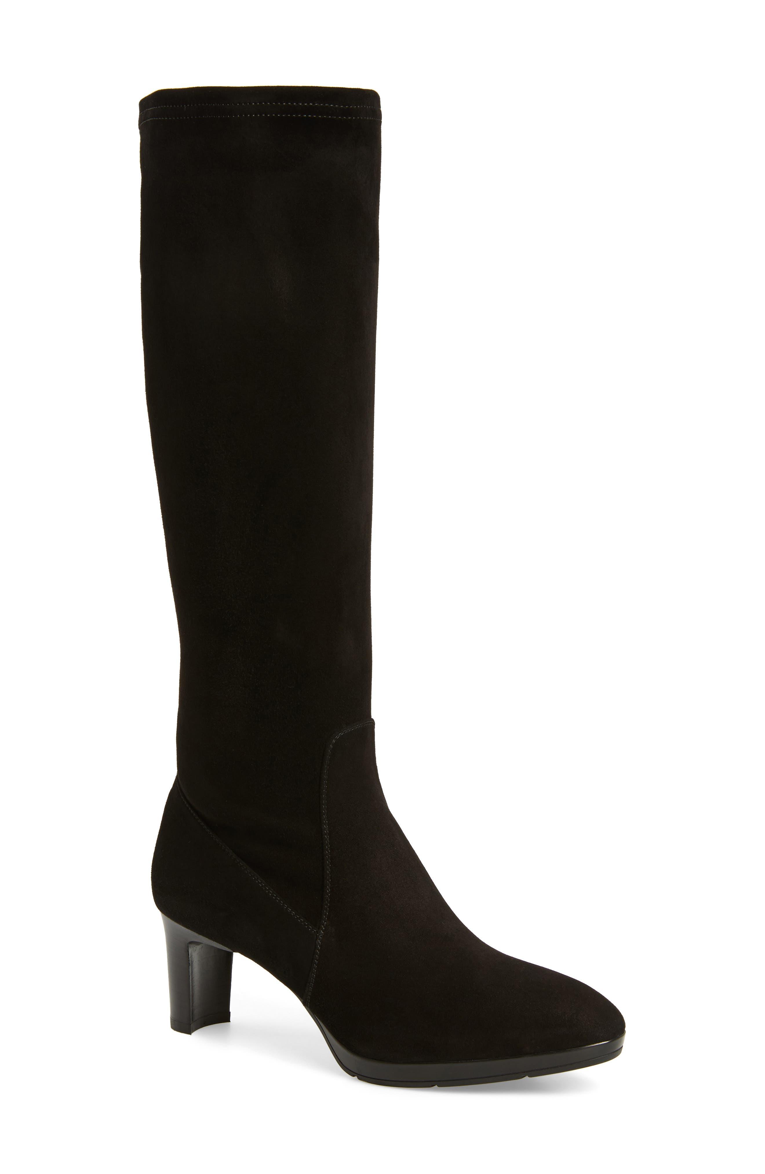 Dahlia Weatherproof Boot,                         Main,                         color, Black Stretch Suede