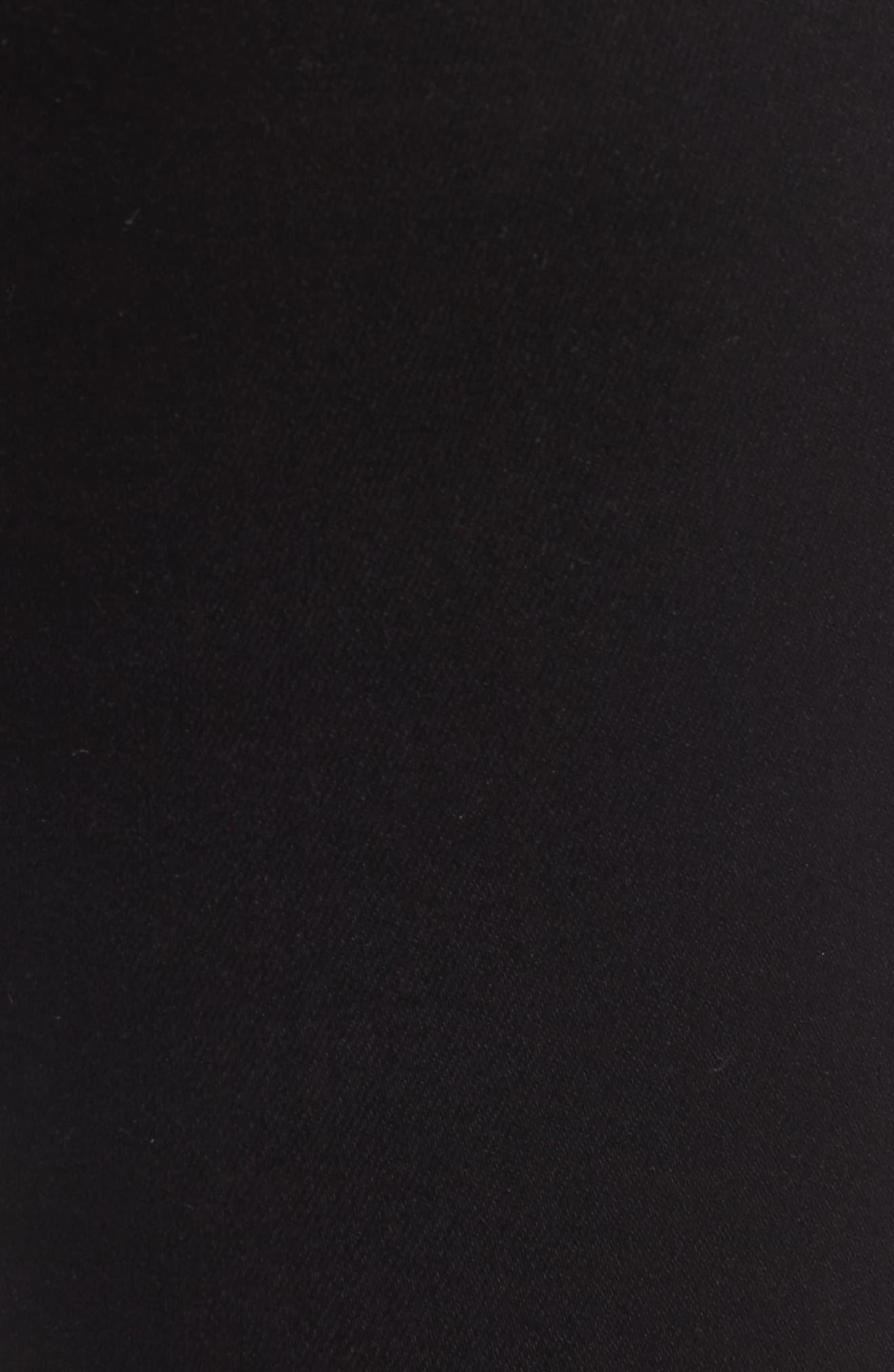 Belvedere Skinny Jeans,                             Alternate thumbnail 5, color,                             Jett Black