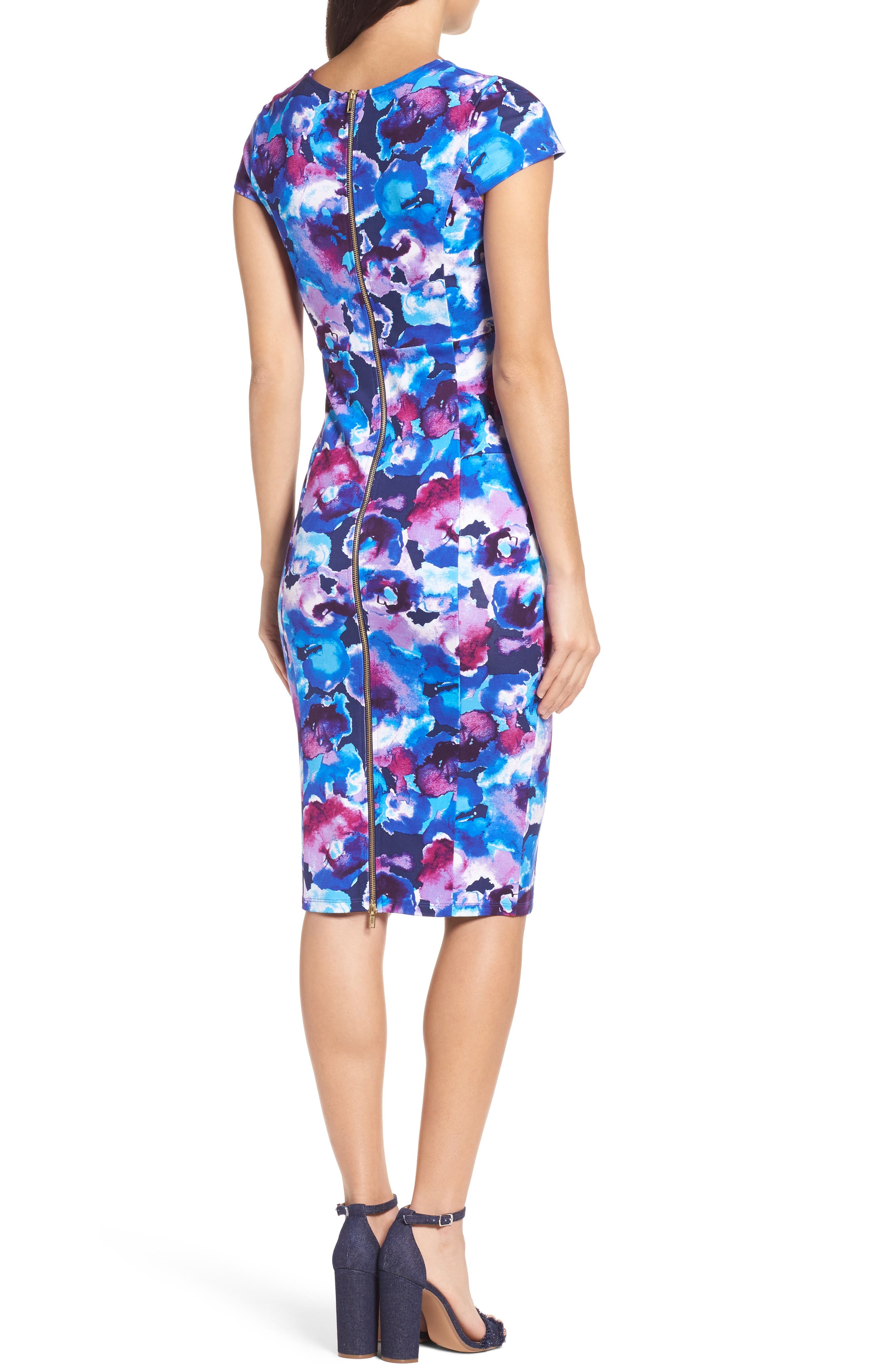 Alternate Image 2  - Felicity & Coco Wardess Floral Ponte Sheath Dress (Regular & Petite) (Nordstrom Exclusive)