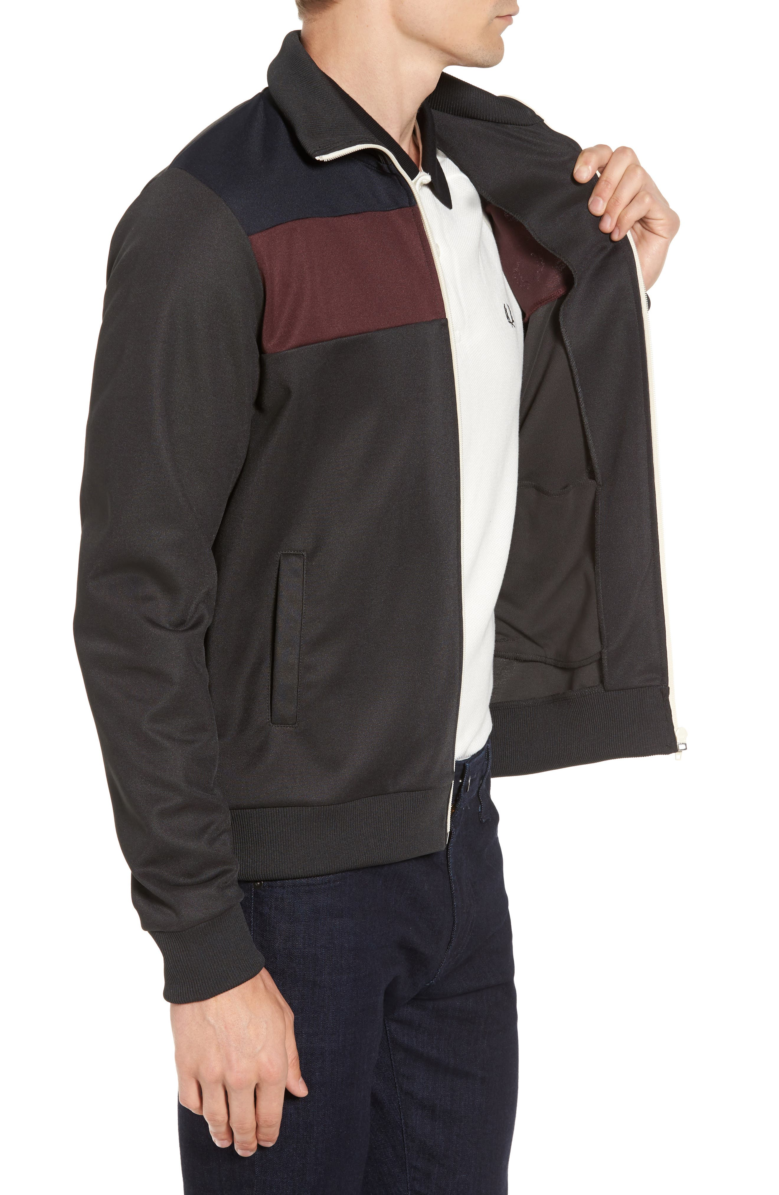 Colorblock Track Jacket,                             Alternate thumbnail 3, color,                             Anthracite