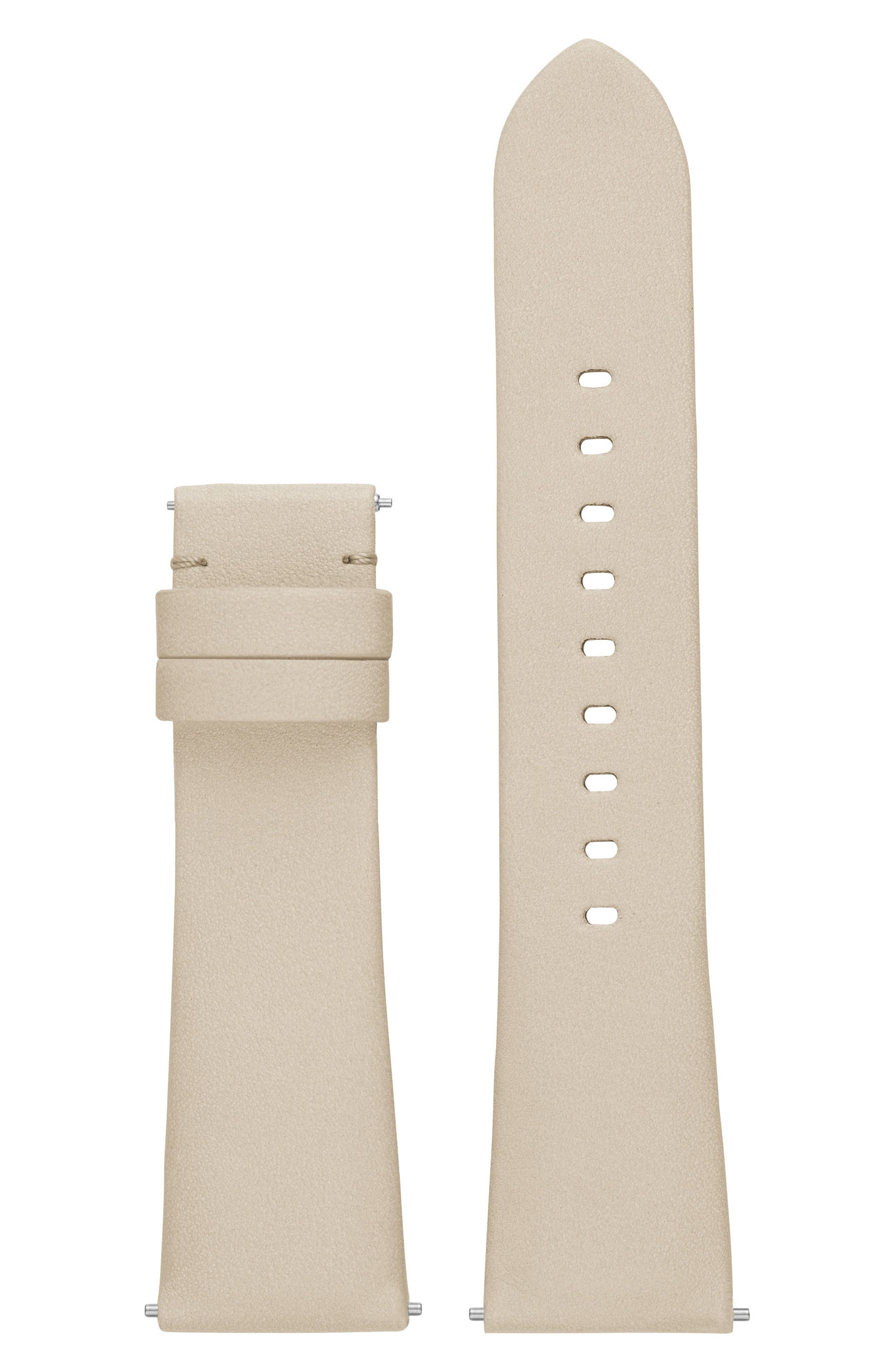 Bradshaw 22mm Leather Watch Strap,                         Main,                         color, Putty
