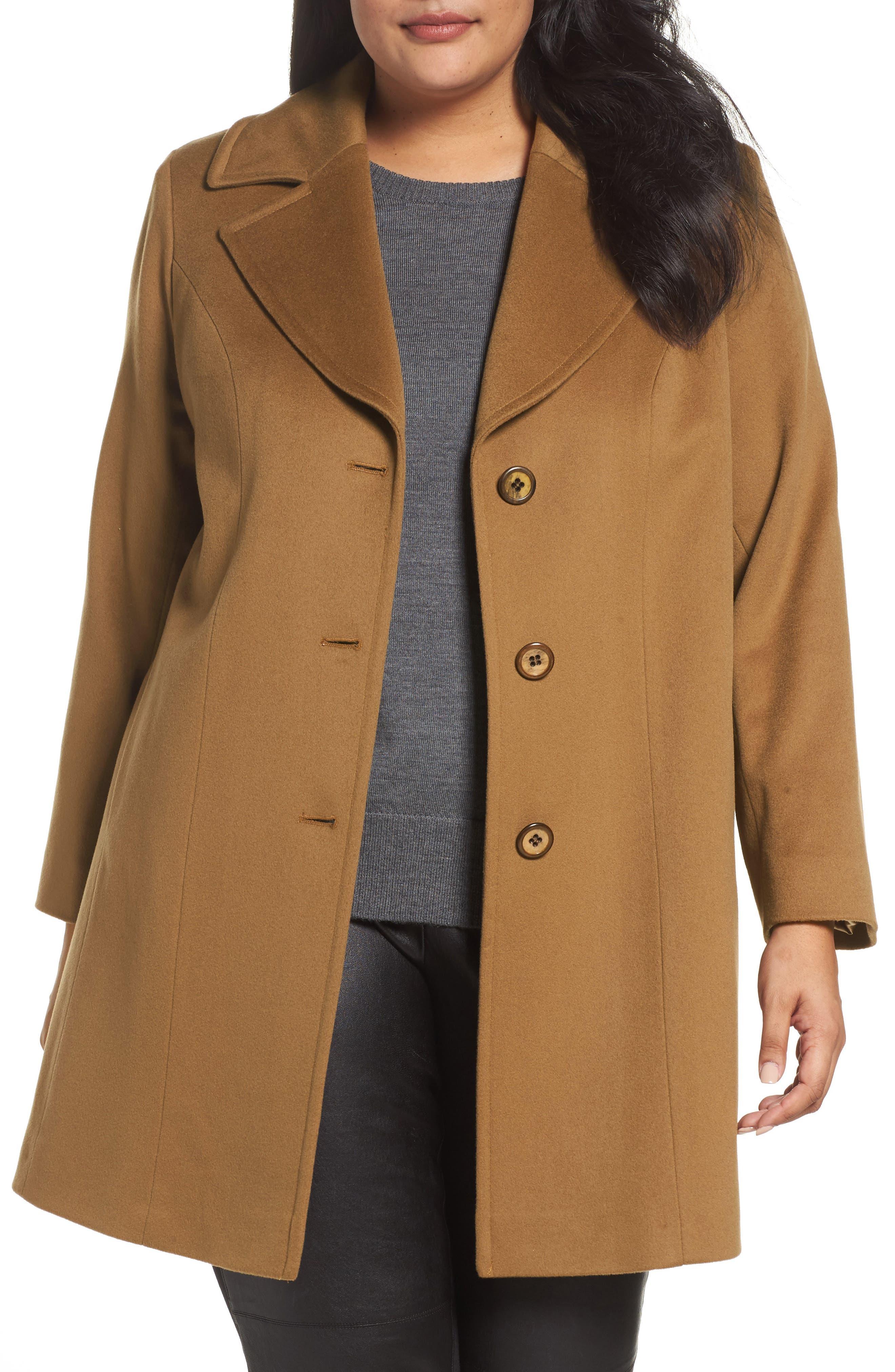Wool Walking Coat,                         Main,                         color, Vicuna