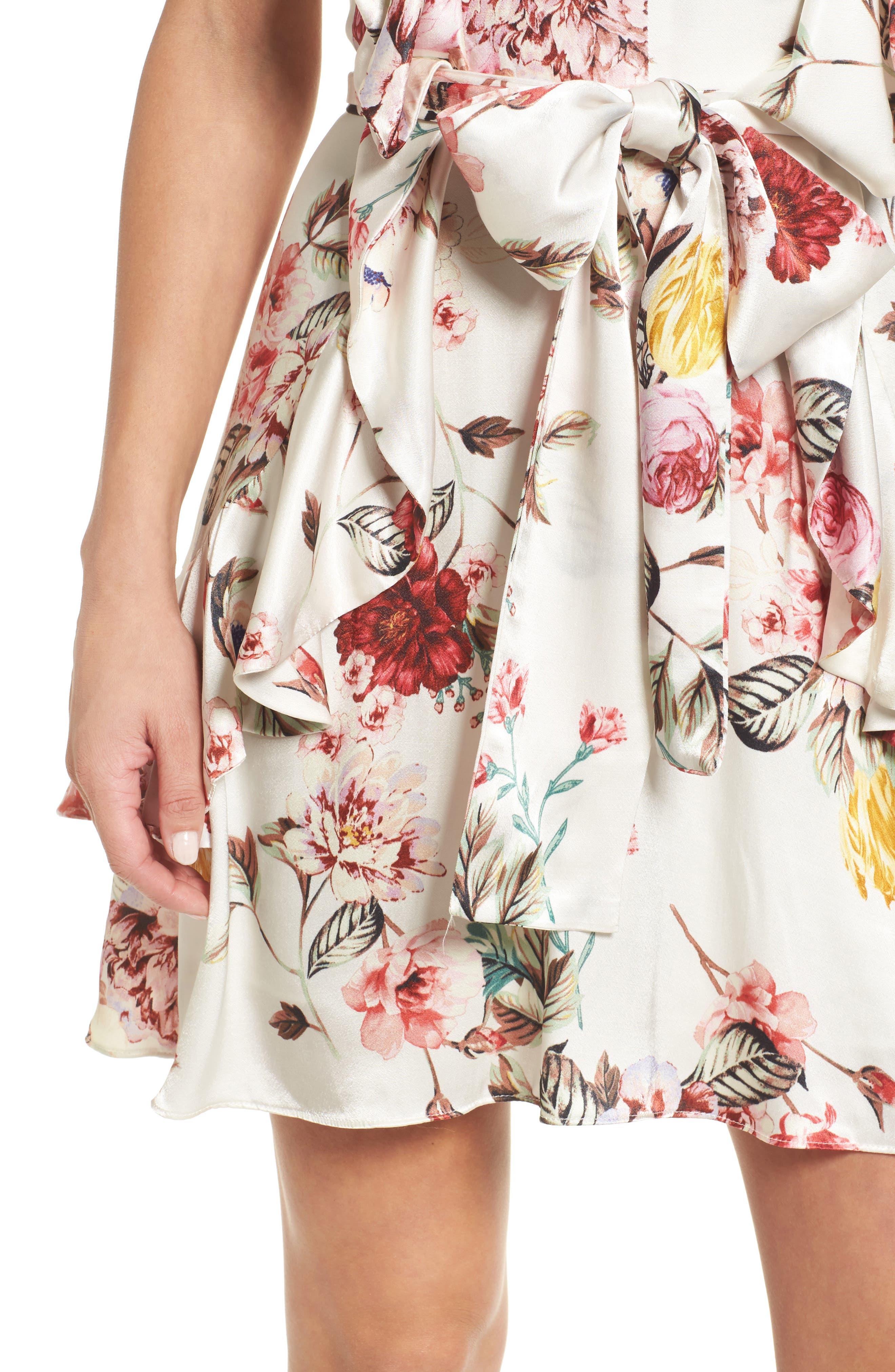 Clara Ruffle Dress,                             Alternate thumbnail 4, color,                             Primrose Blanc