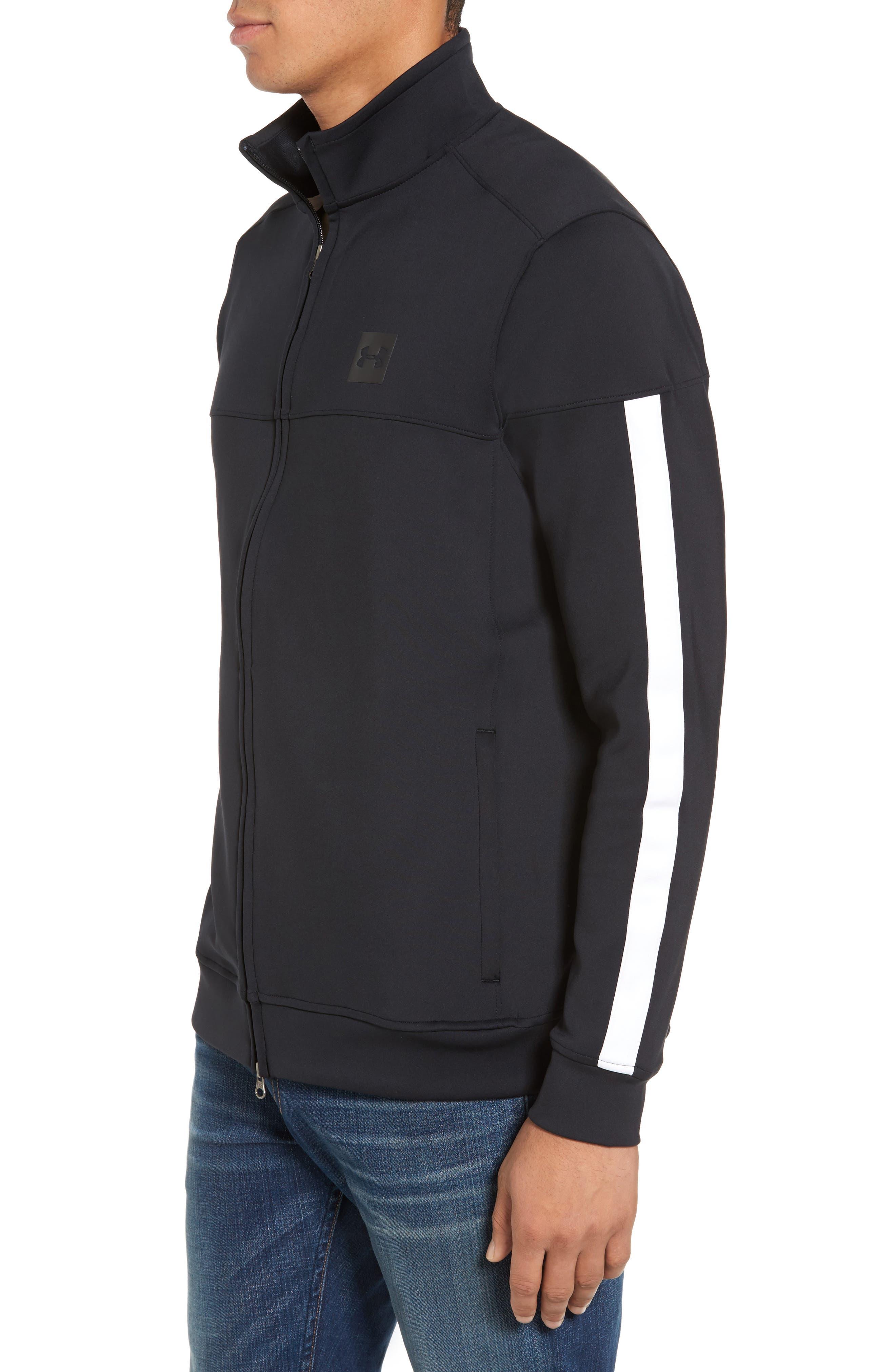 Sportstyle Track Jacket,                             Alternate thumbnail 3, color,                             Black / / Black
