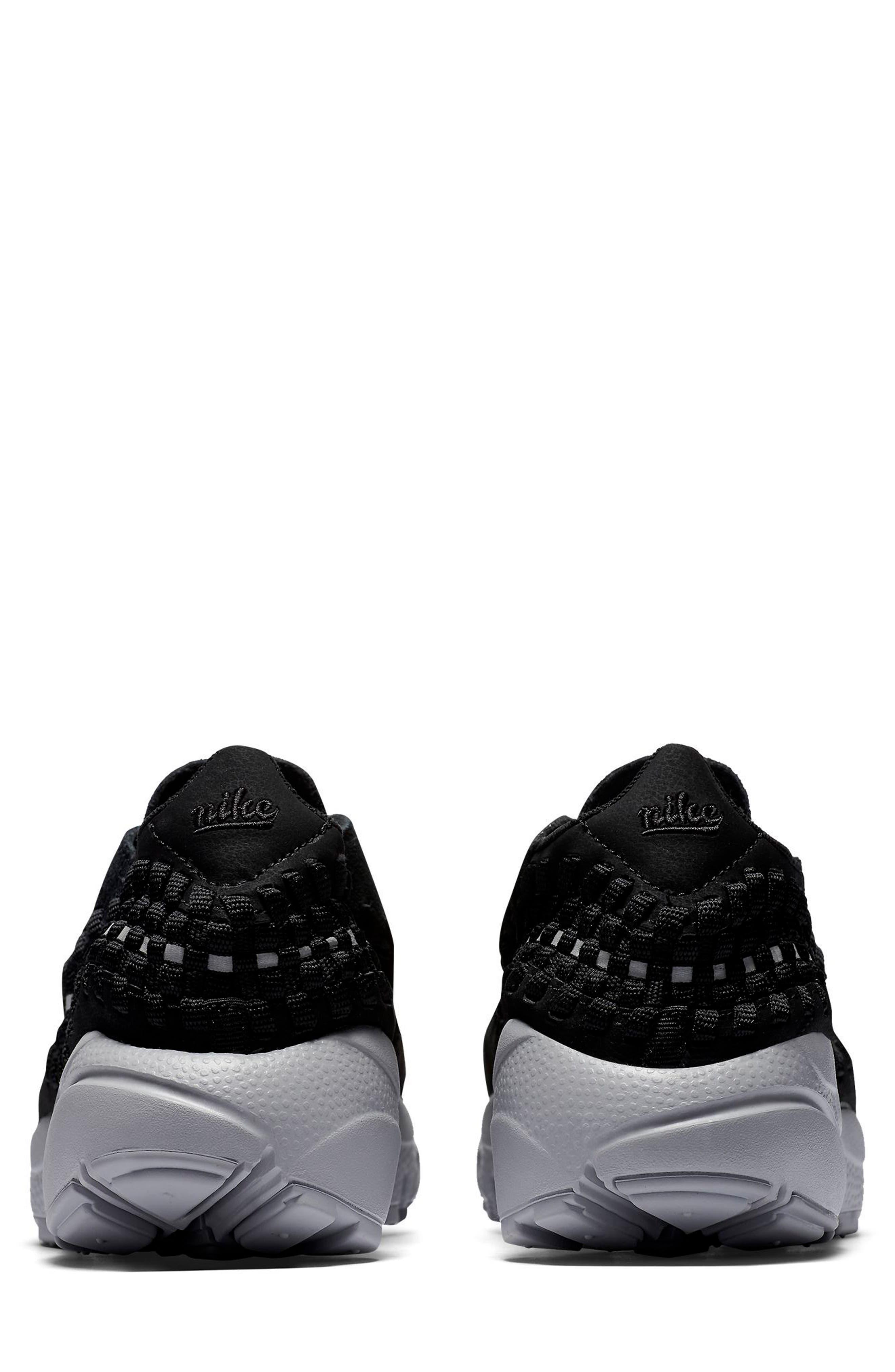 Air Footscape Woven Sneaker,                             Alternate thumbnail 2, color,                             Black/ Black/ Silver/ Grey