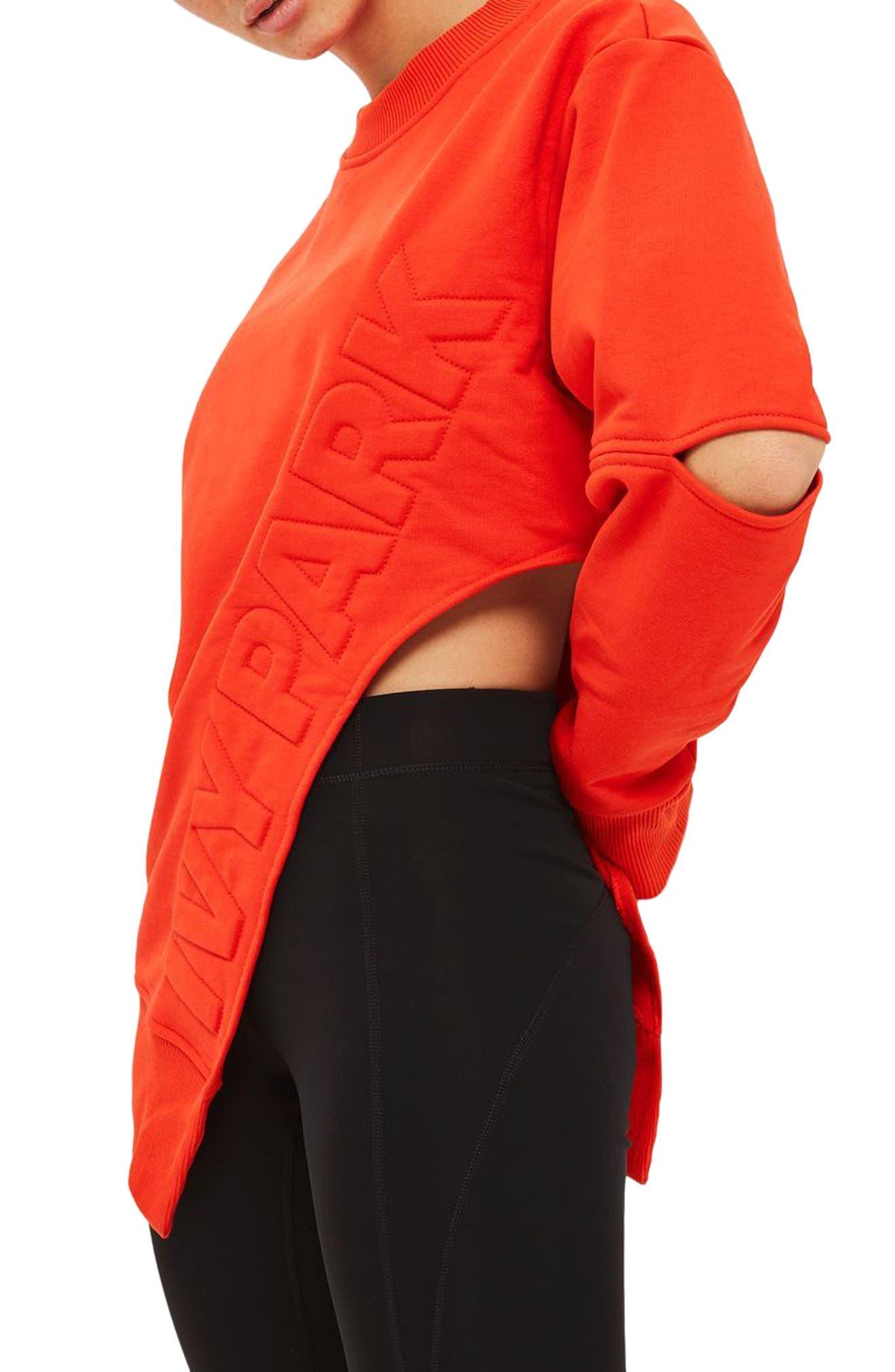Alternate Image 3  - IVY PARK® Logo Embossed Sliced Sweatshirt