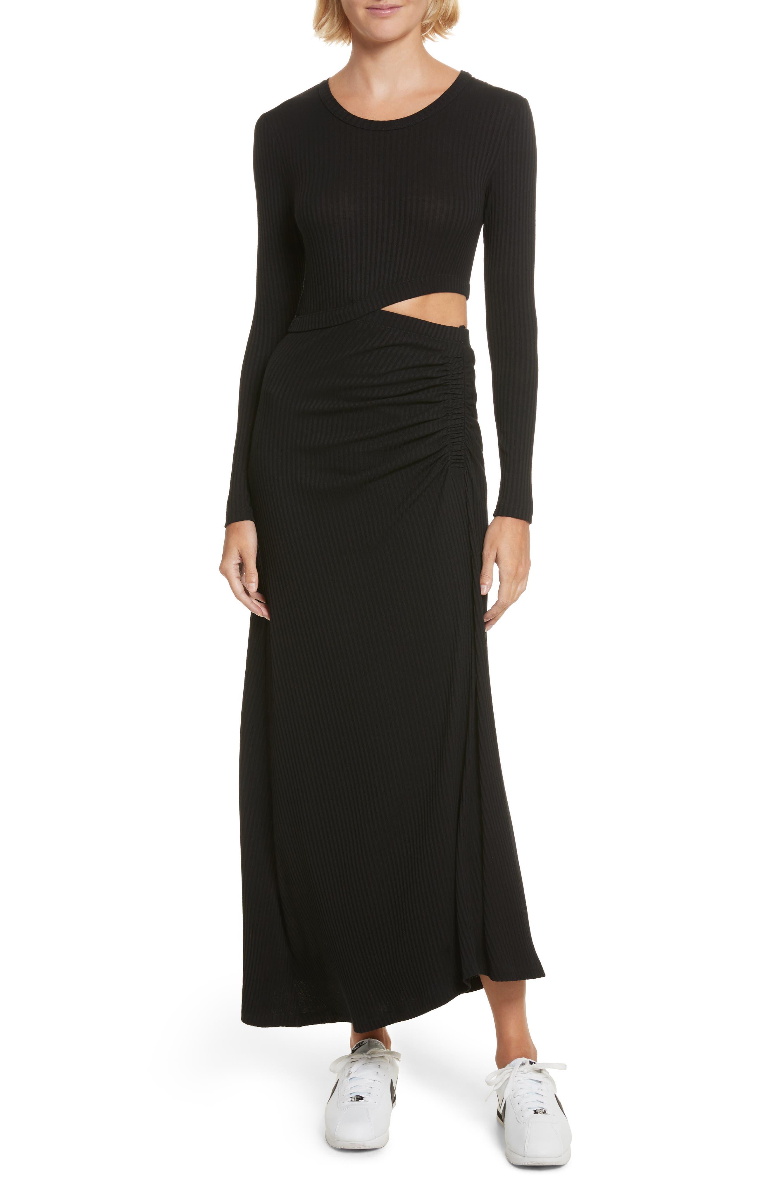 Rooney Cutout Dress,                             Main thumbnail 1, color,                             Black