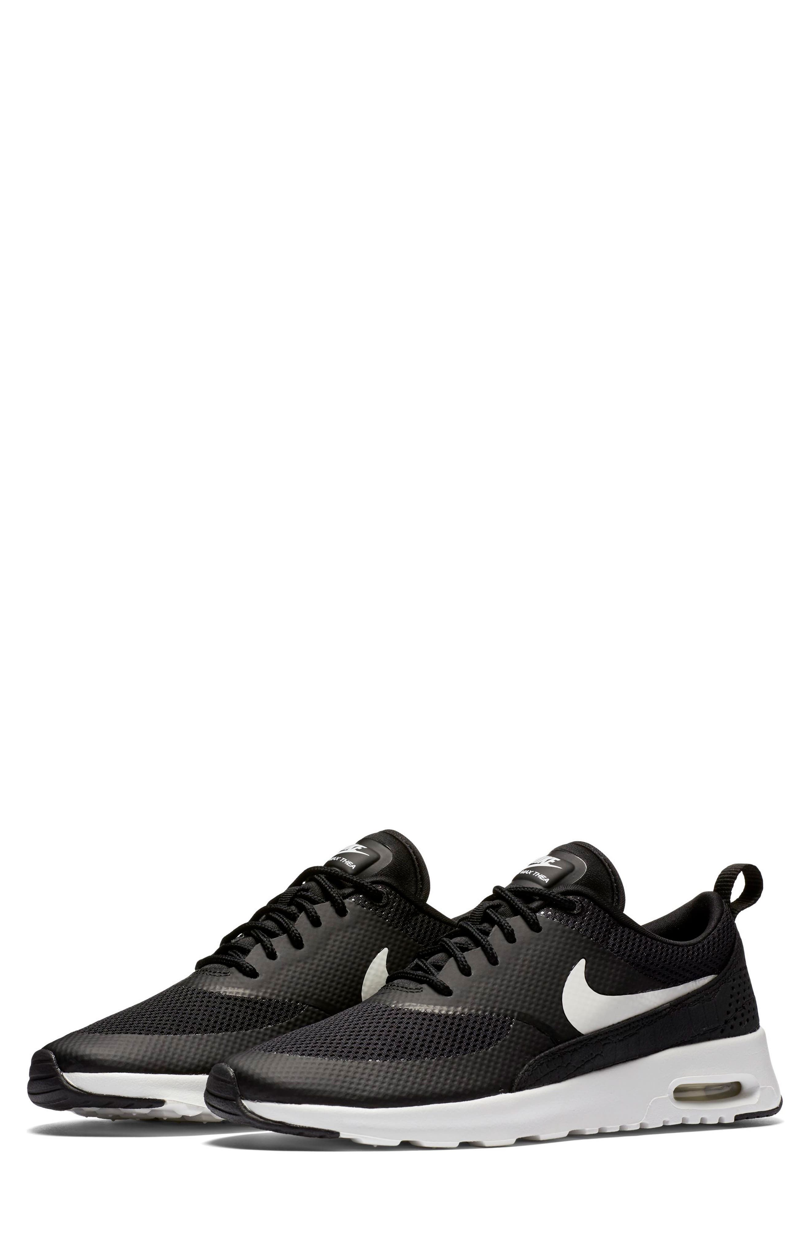 Air Max Thea Sneaker,                         Main,                         color, Black/ Summit White