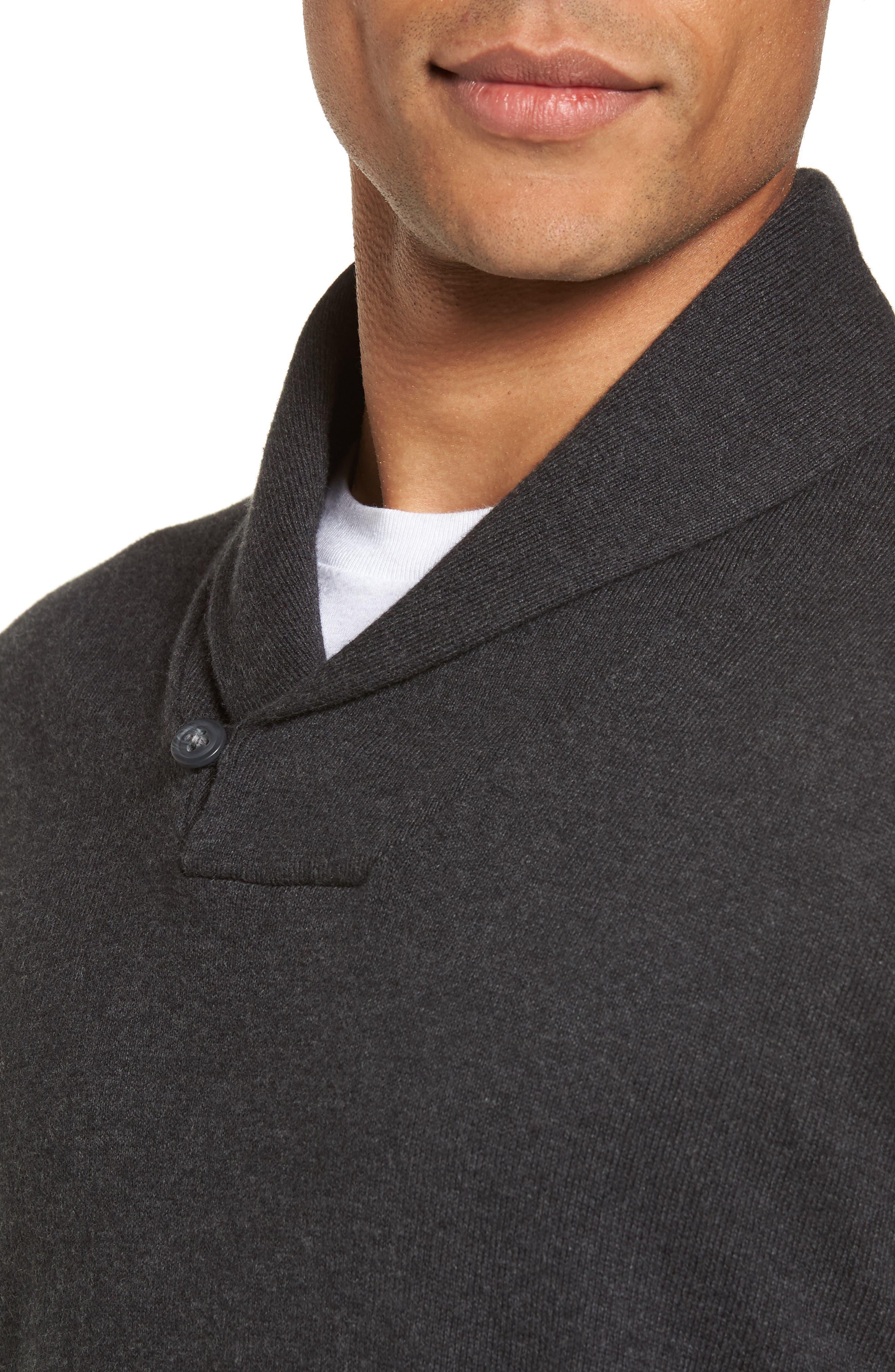 Alternate Image 4  - Nordstrom Men's Shop Shawl Collar Sweater (Big)