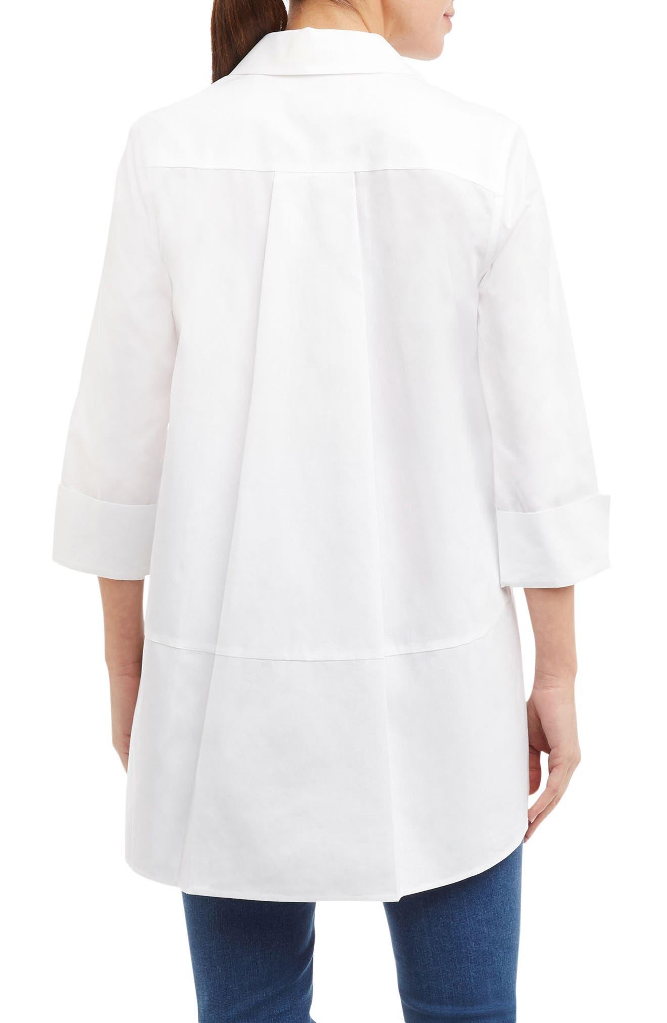 Alternate Image 2  - Foxcroft Daniela Non-Iron Tunic Shirt