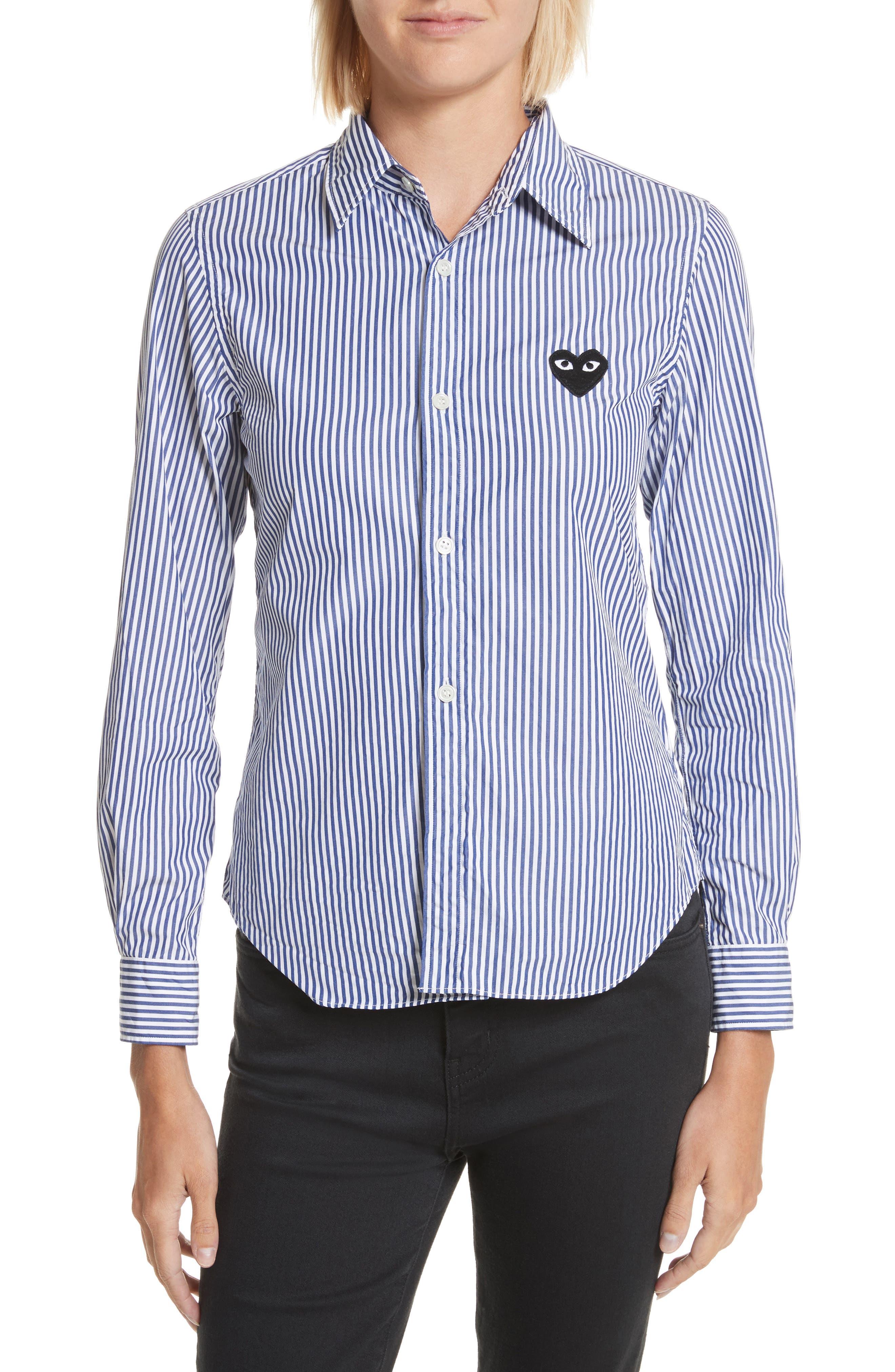 Comme des Garçons PLAY Heart Stripe Shirt
