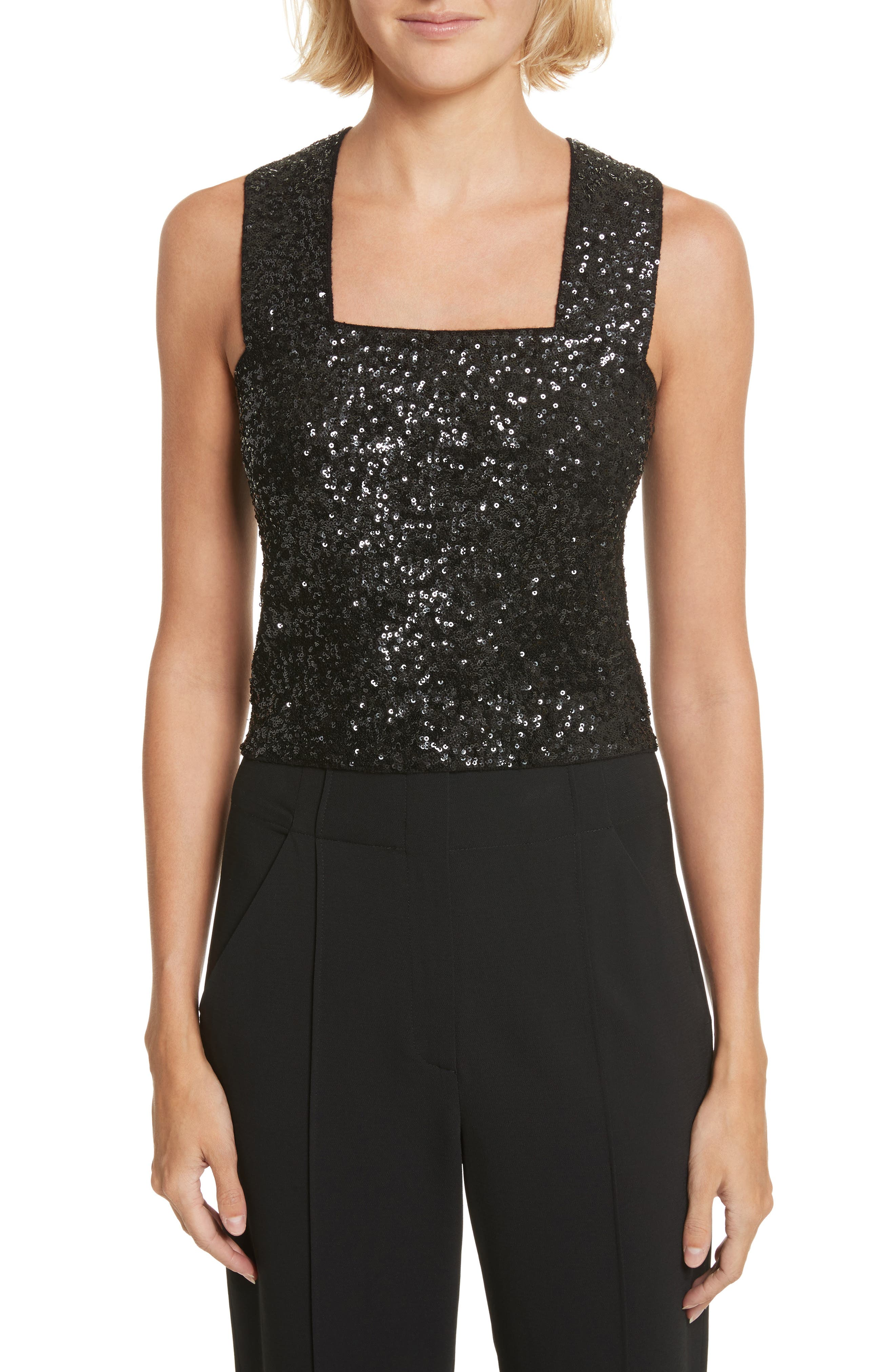 A.L.C. Lia Sequin Tank Top