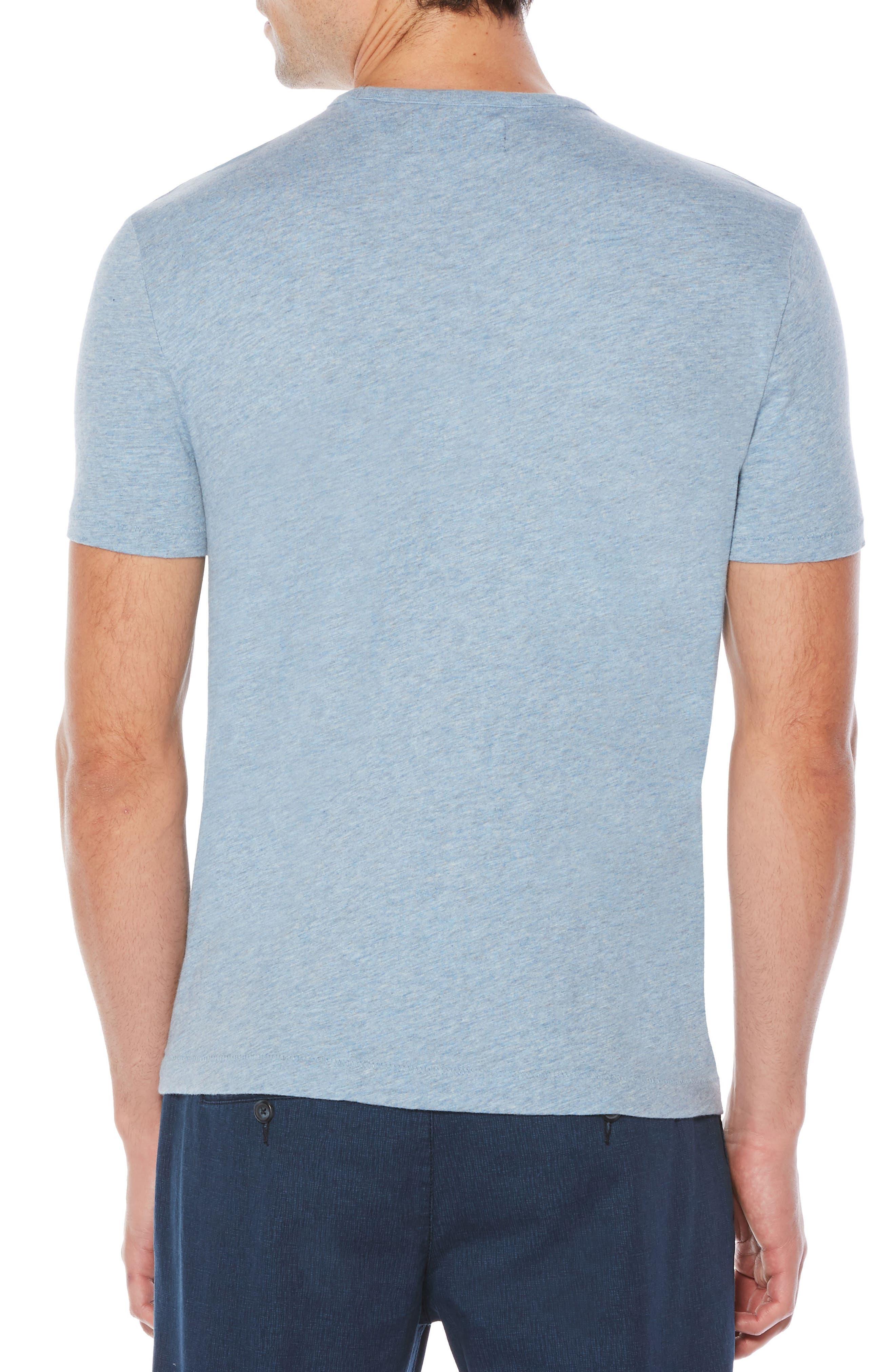 Slub Cotton T-Shirt,                             Alternate thumbnail 2, color,                             Faded Denim