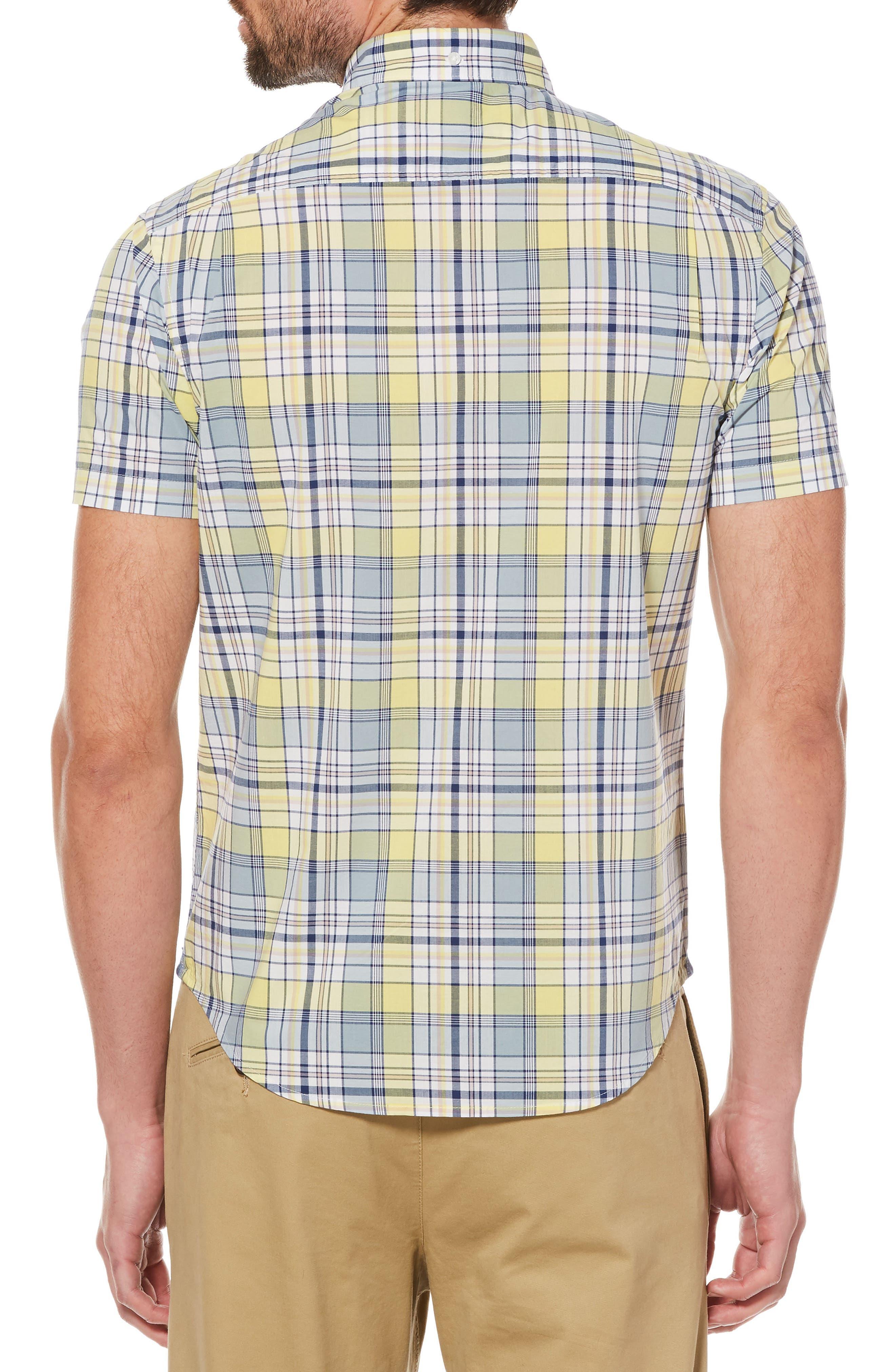 P55 Woven Shirt,                             Alternate thumbnail 2, color,                             Limelight
