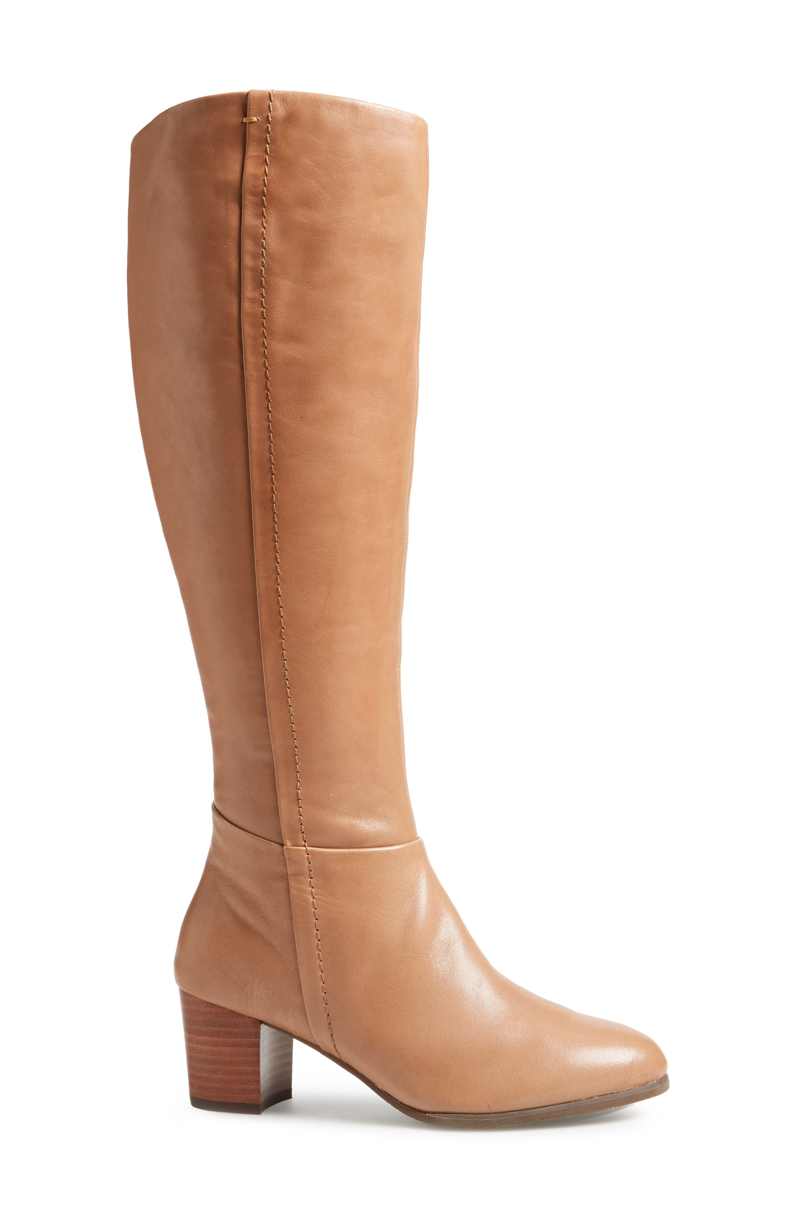 Tahlia Boot,                             Alternate thumbnail 3, color,                             Brown Leather