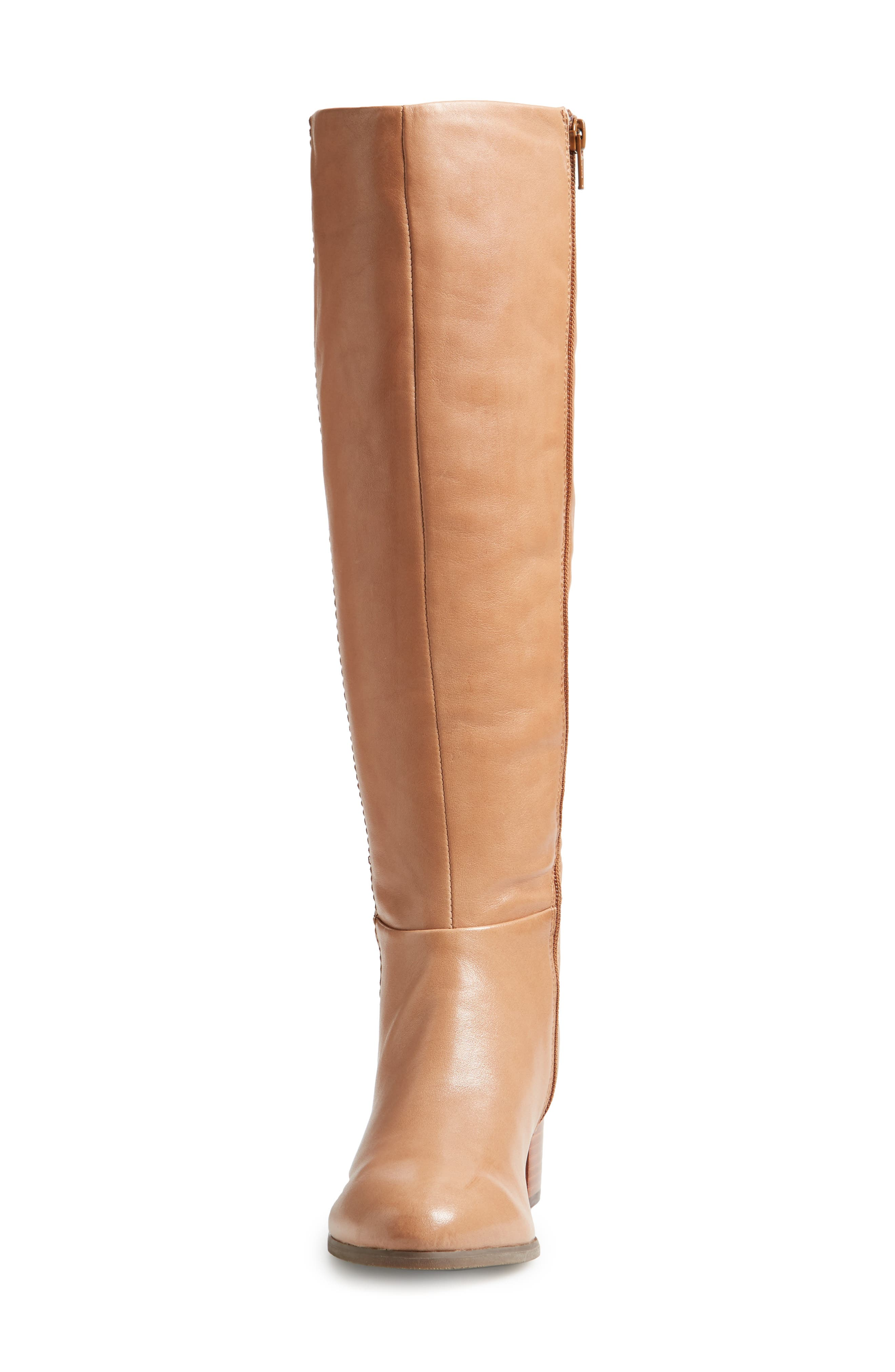 Tahlia Boot,                             Alternate thumbnail 4, color,                             Brown Leather