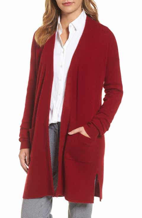 Women's Red Cashmere Blend Cardigan Sweaters | Nordstrom
