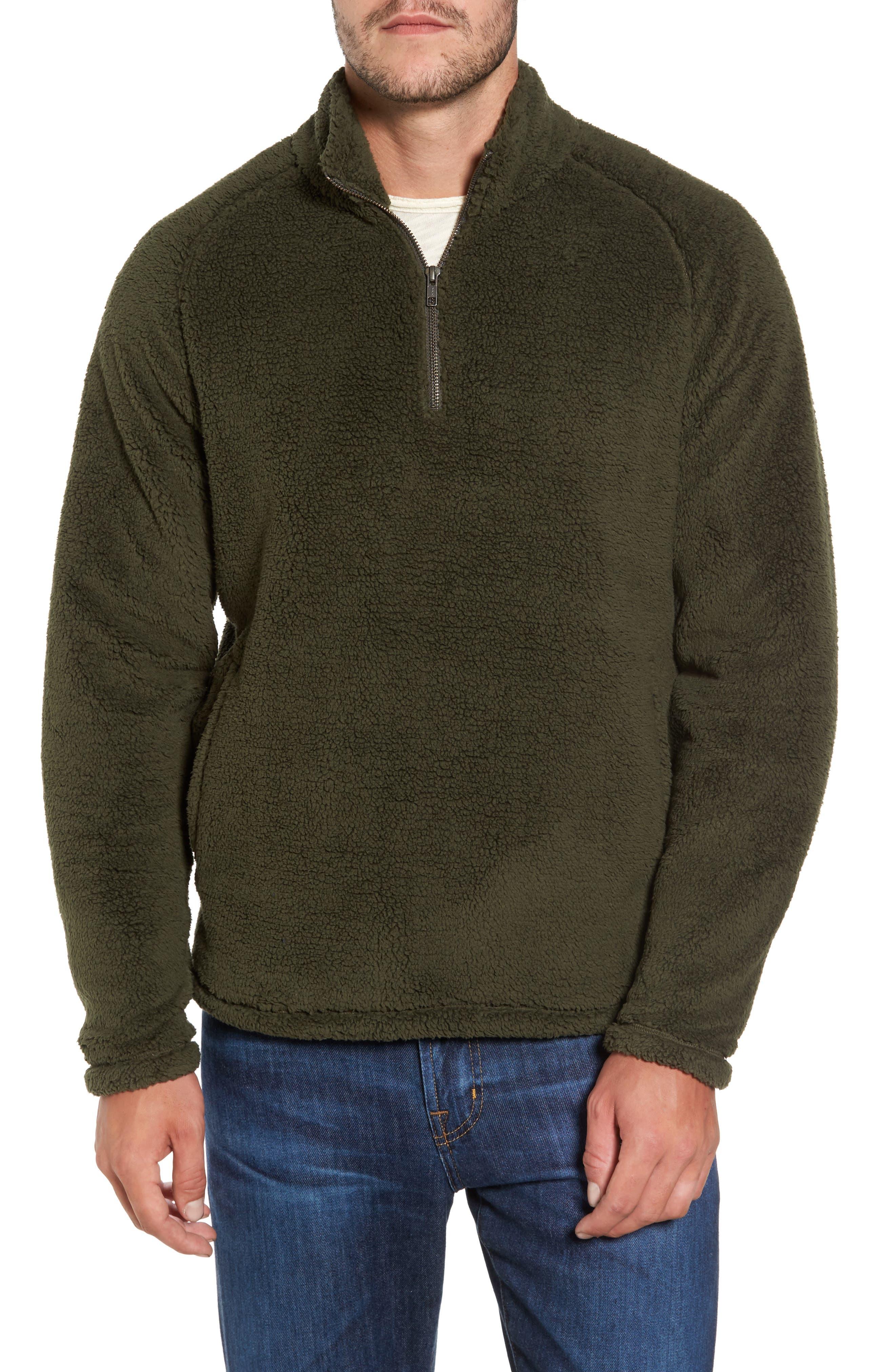 Nordstrom Men's Shop Polar Fleece Quarter Zip Pullover