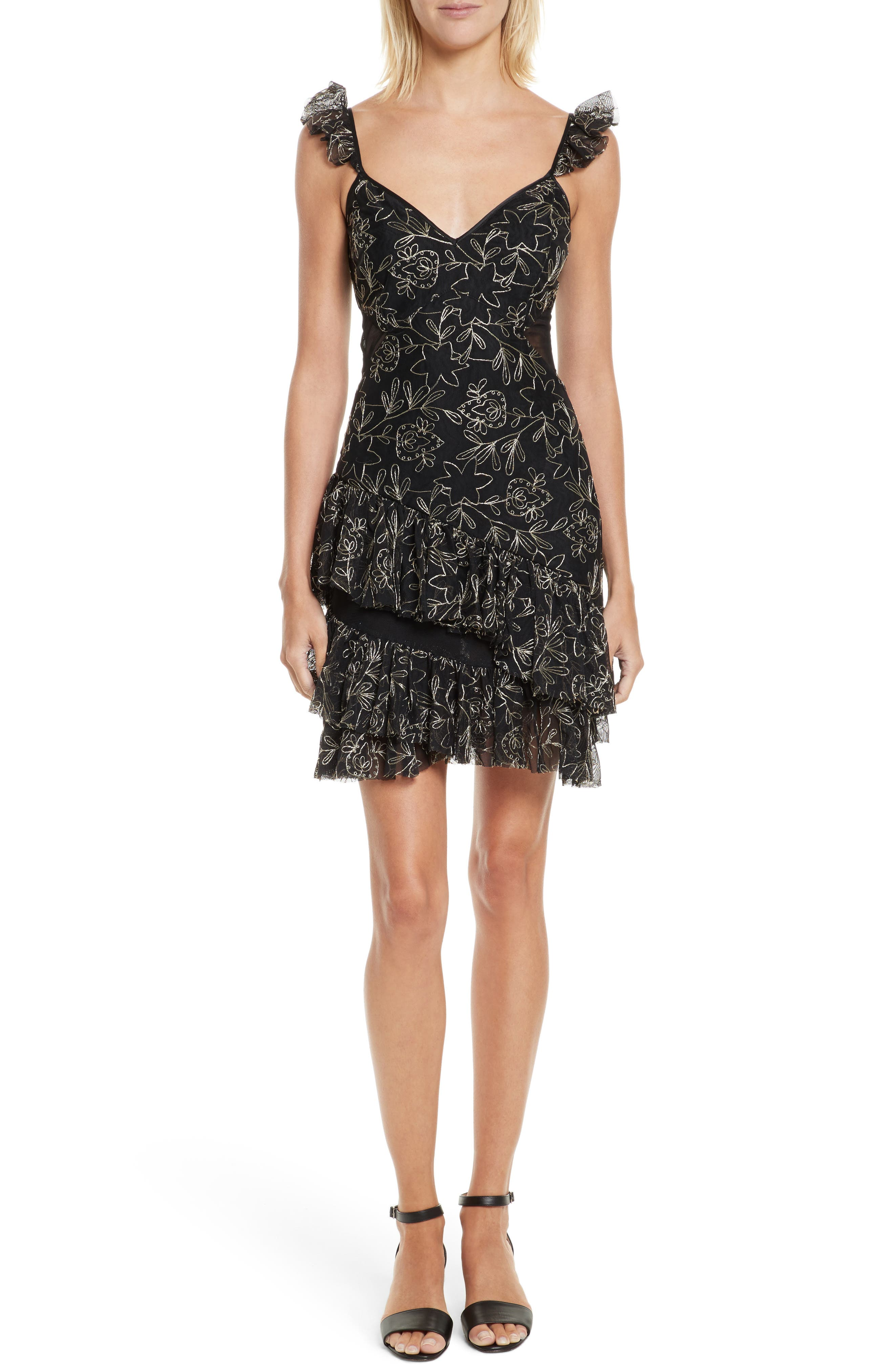 Sale alerts for  Enid Embroidered Ruffle Dress - Covvet