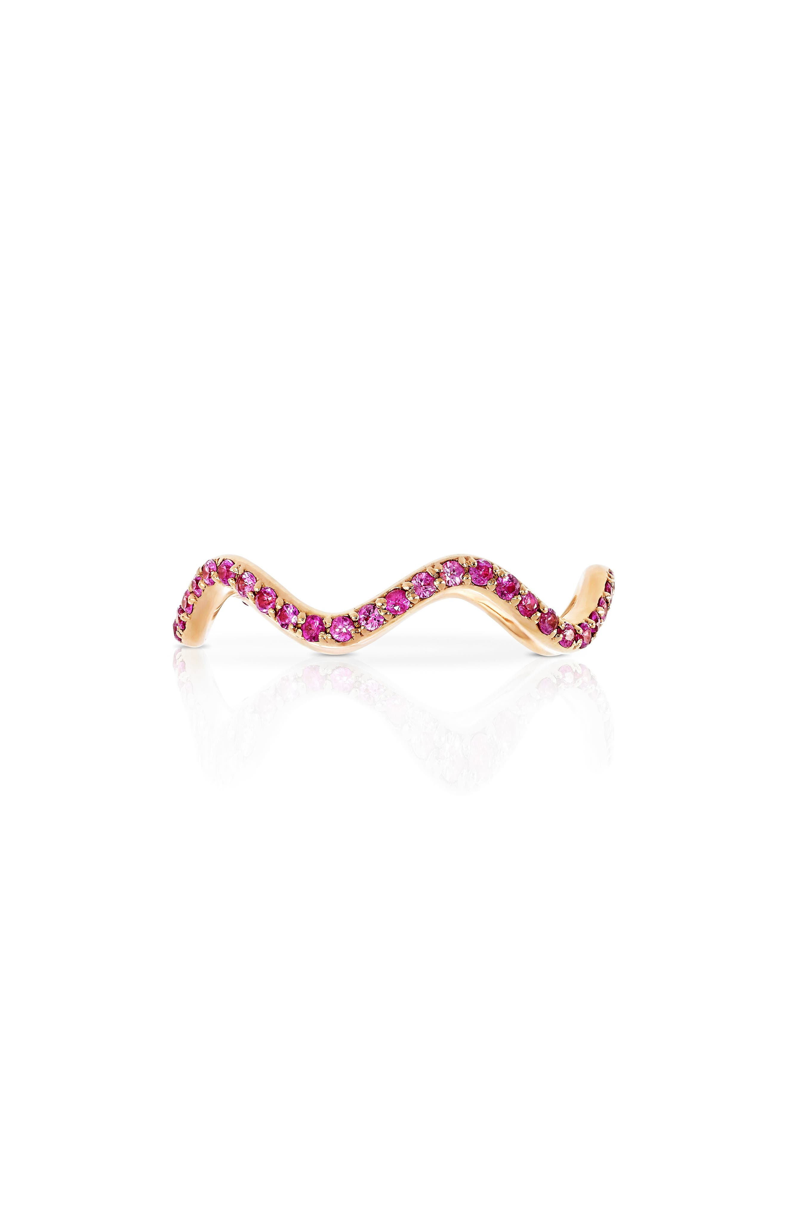 Alternate Image 1 Selected - Sabine Getty Baby Memphis Pink Sapphire Wave Band Ring
