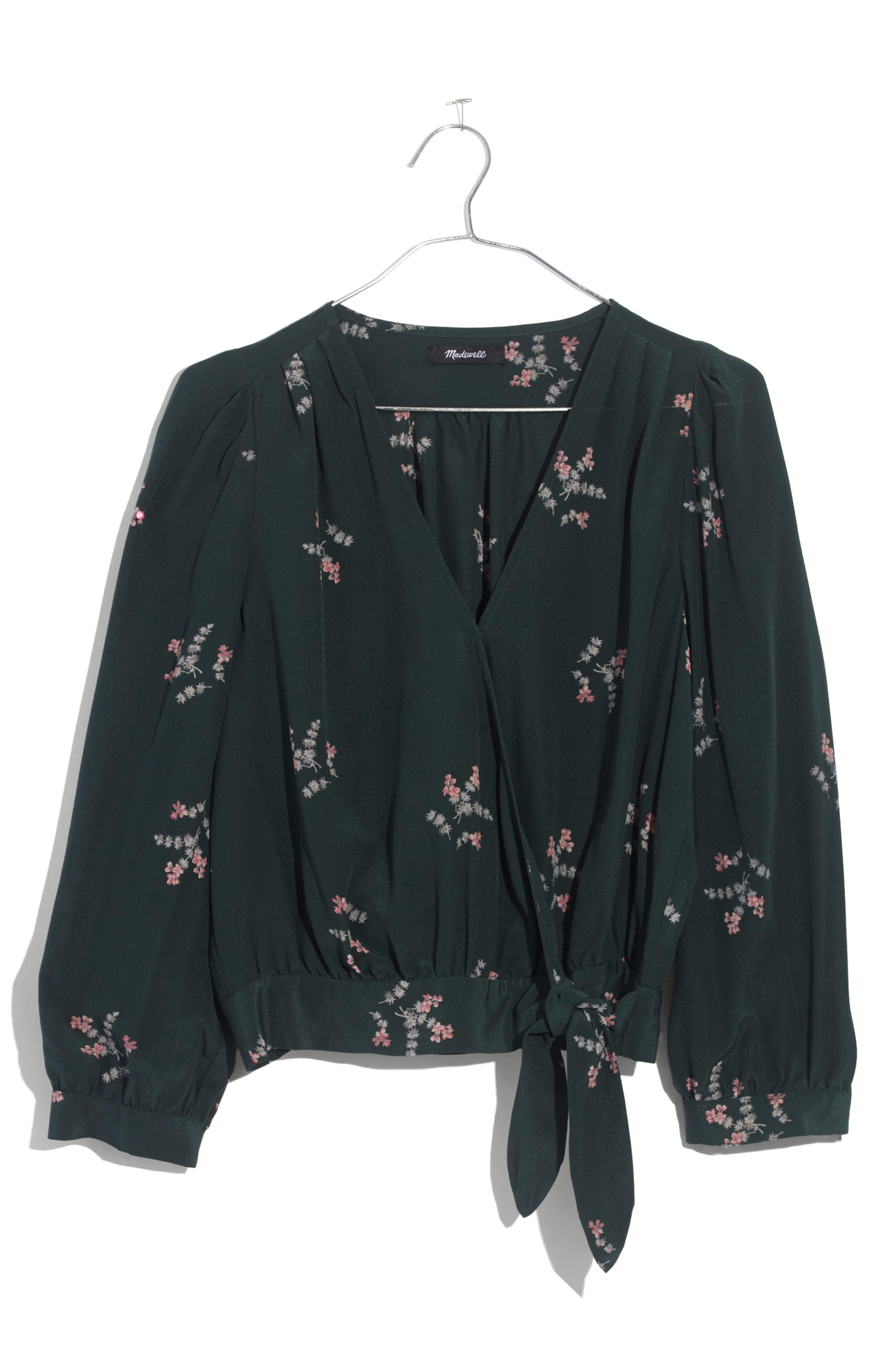 Alternate Image 4  - Madewell Poppy Print Silk Wrap Blouse