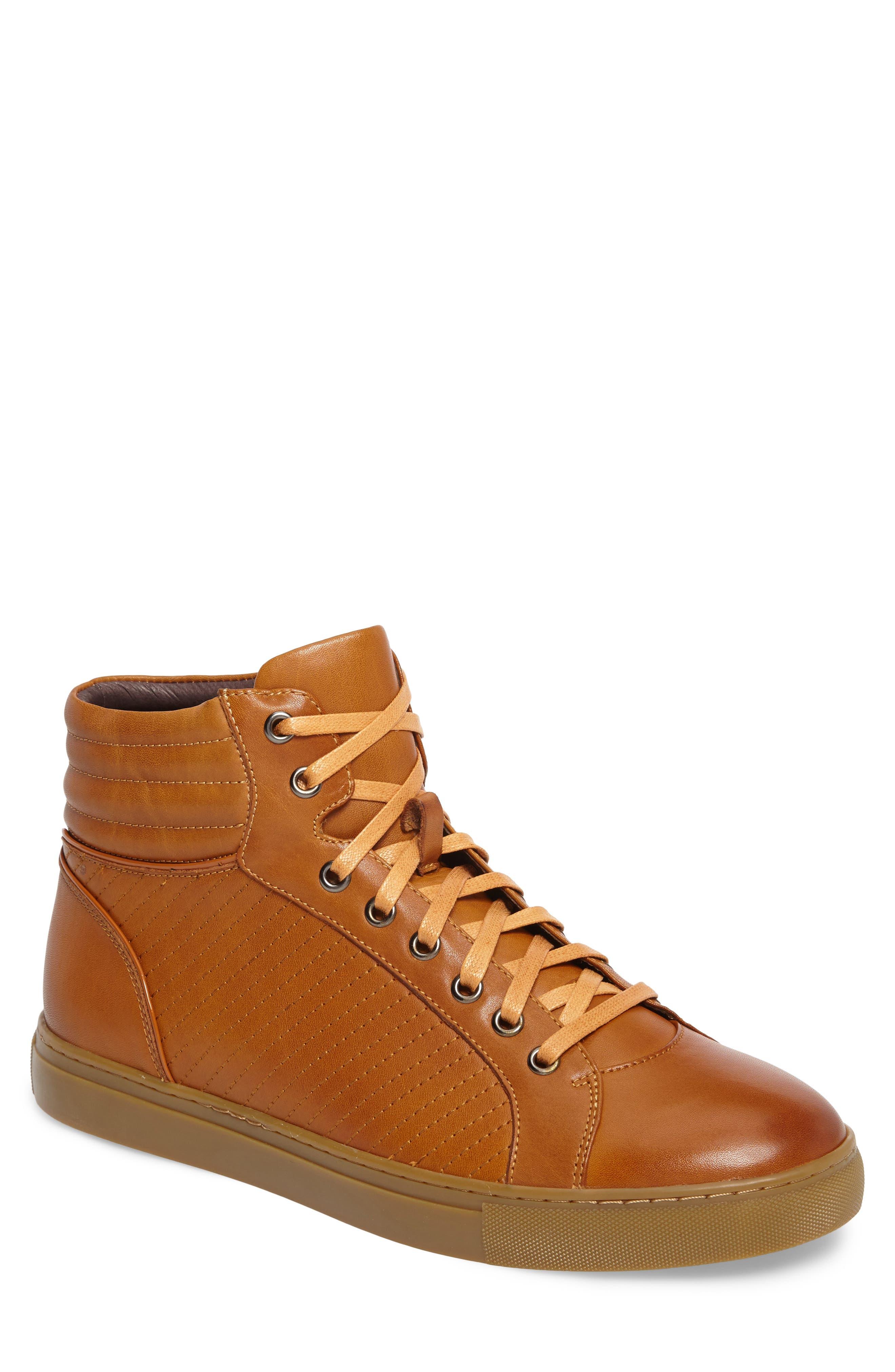 Youse Sneaker,                         Main,                         color, Cognac Leather
