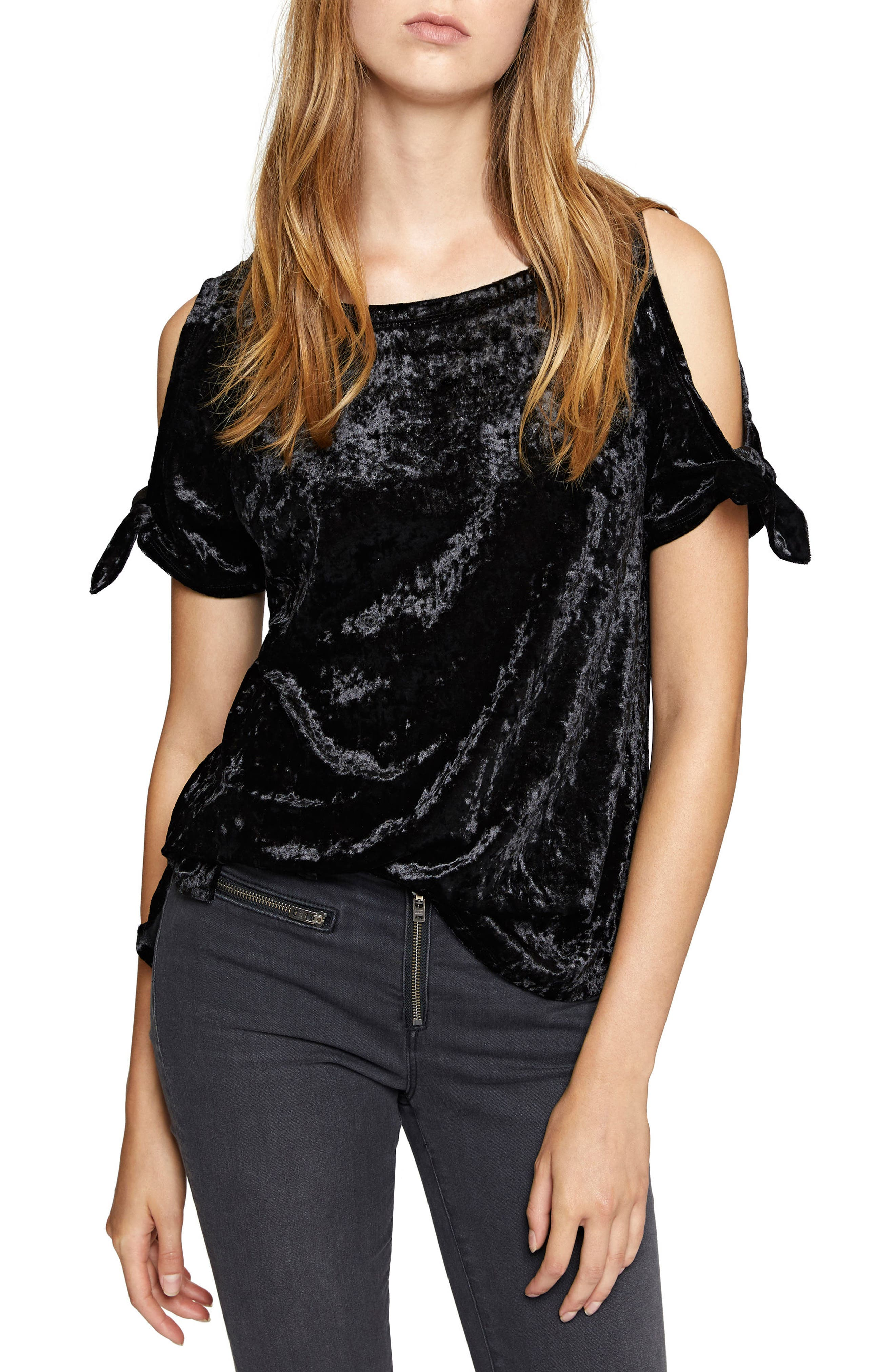Main Image - Sanctuary Lou Crushed Velvet Top (Regular & Petite)