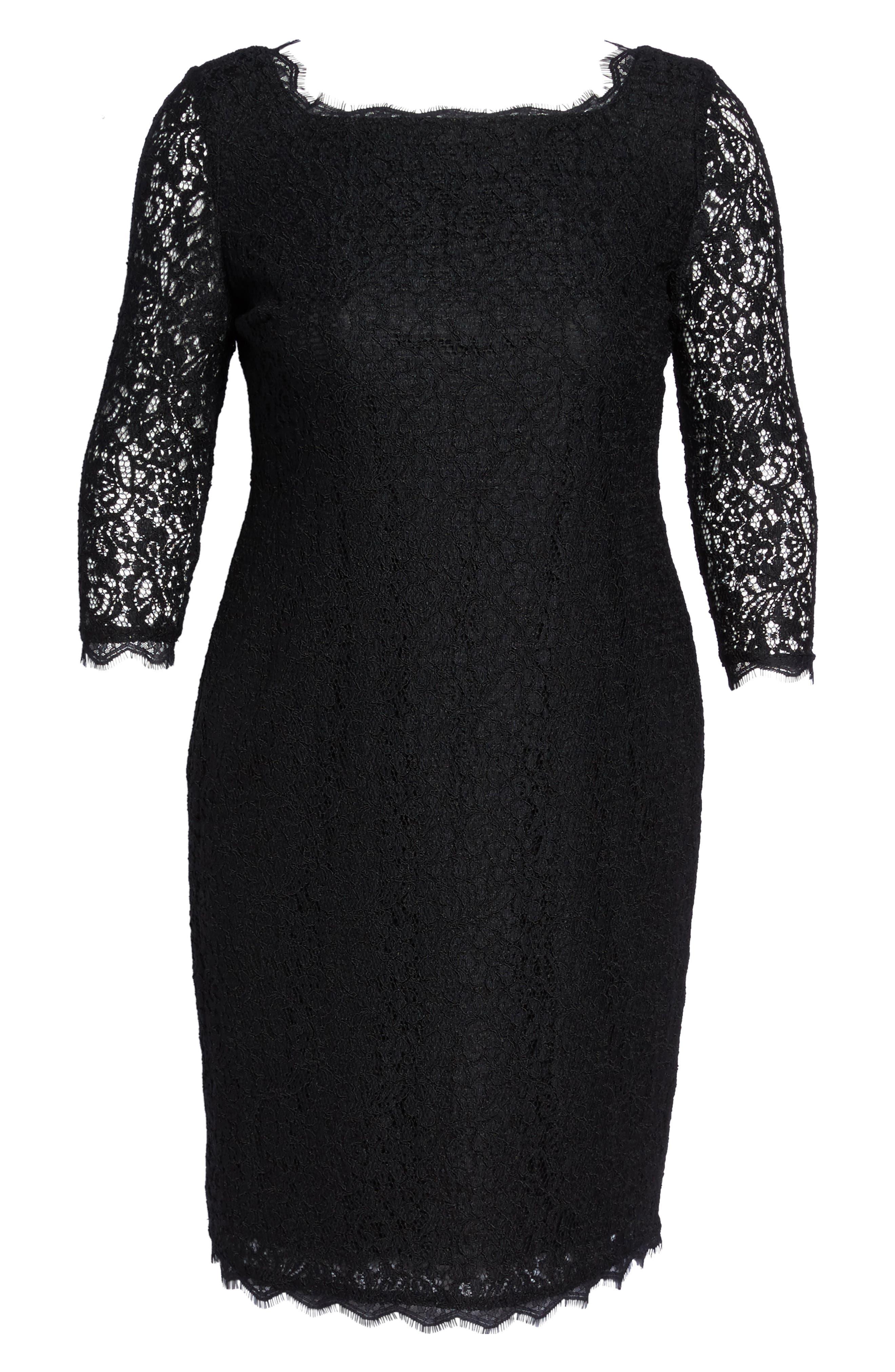 Alternate Image 6  - Adrianna Papell Lace Overlay Sheath Dress (Plus Size)