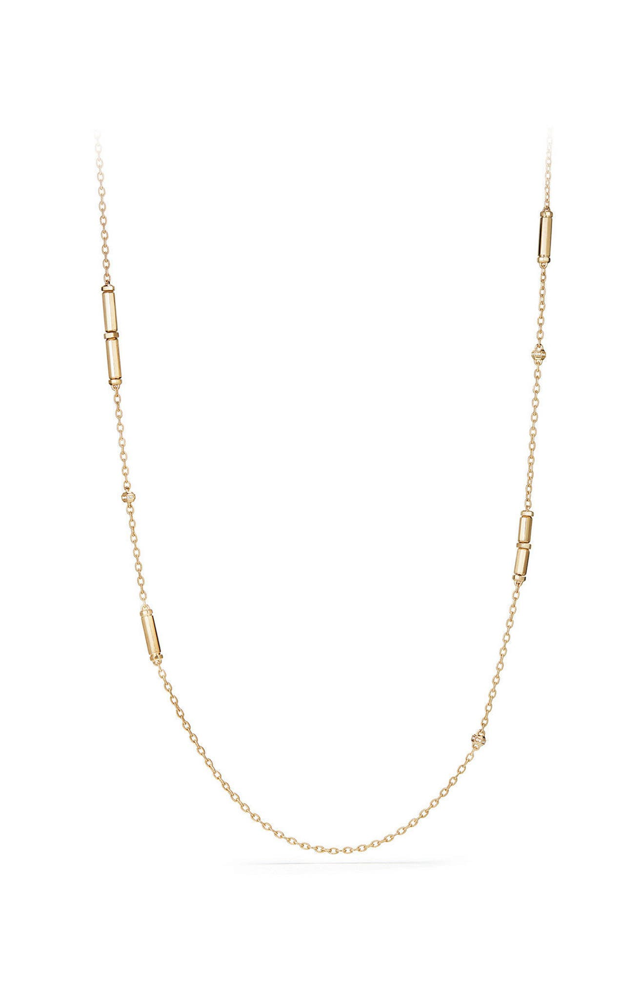 David Yurman Barrels Long Station Necklace with Diamonds
