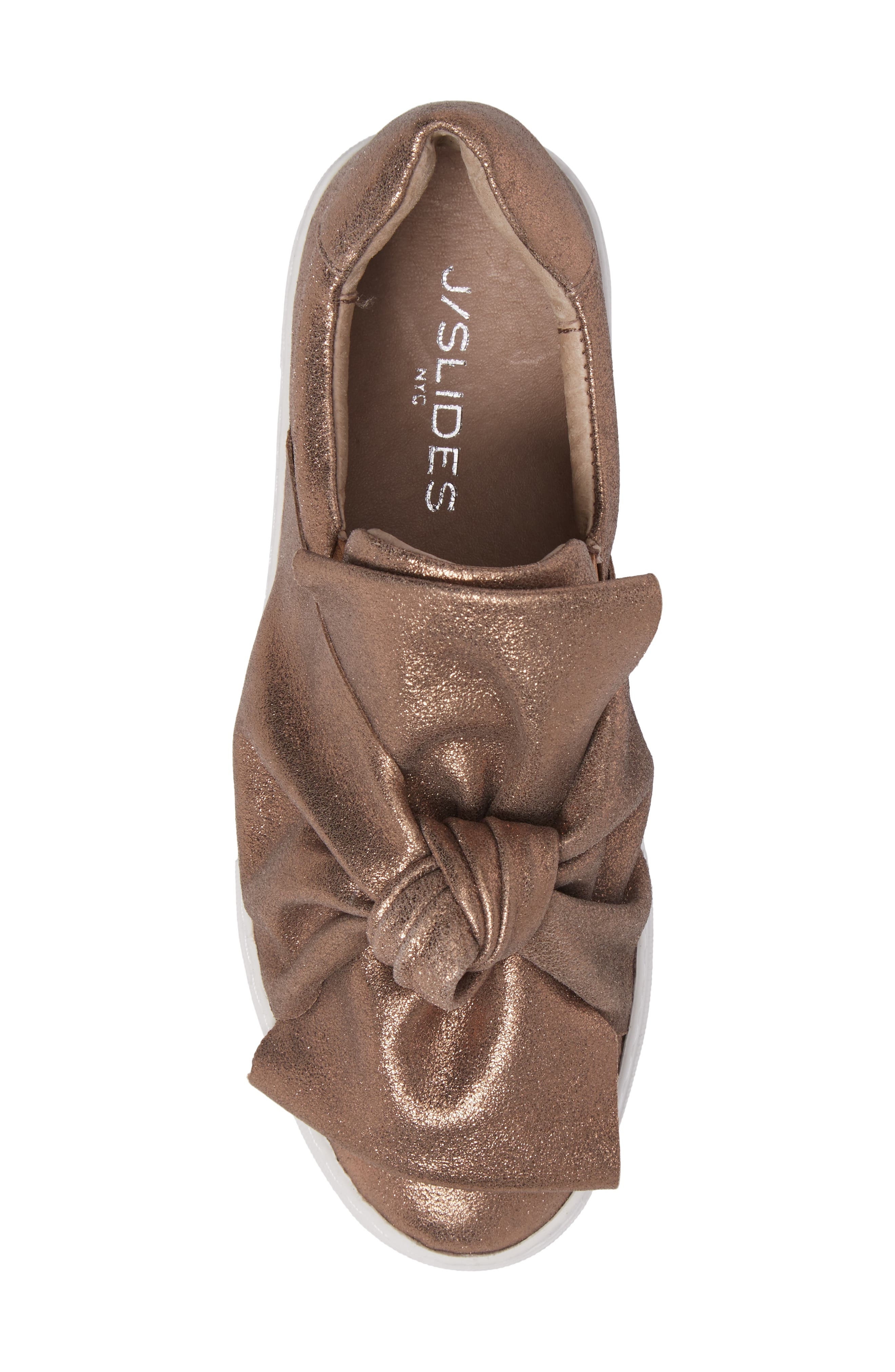 Audra Slip-On Sneaker,                             Alternate thumbnail 5, color,                             Taupe Leather