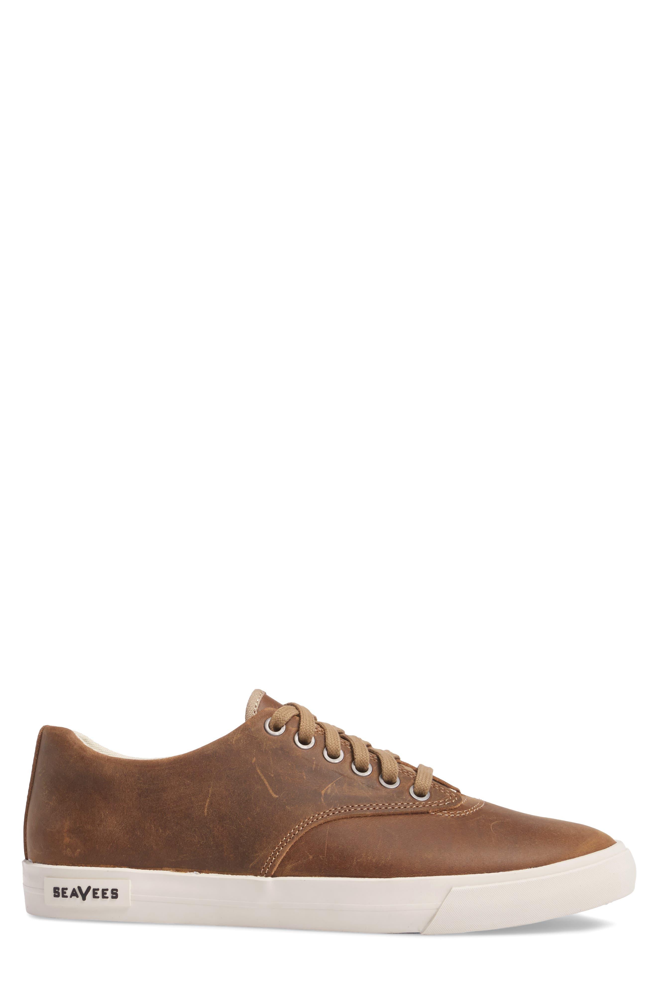 Hermosa Plimsoll Wintertide Sneaker,                             Alternate thumbnail 3, color,                             Elmwood Leather
