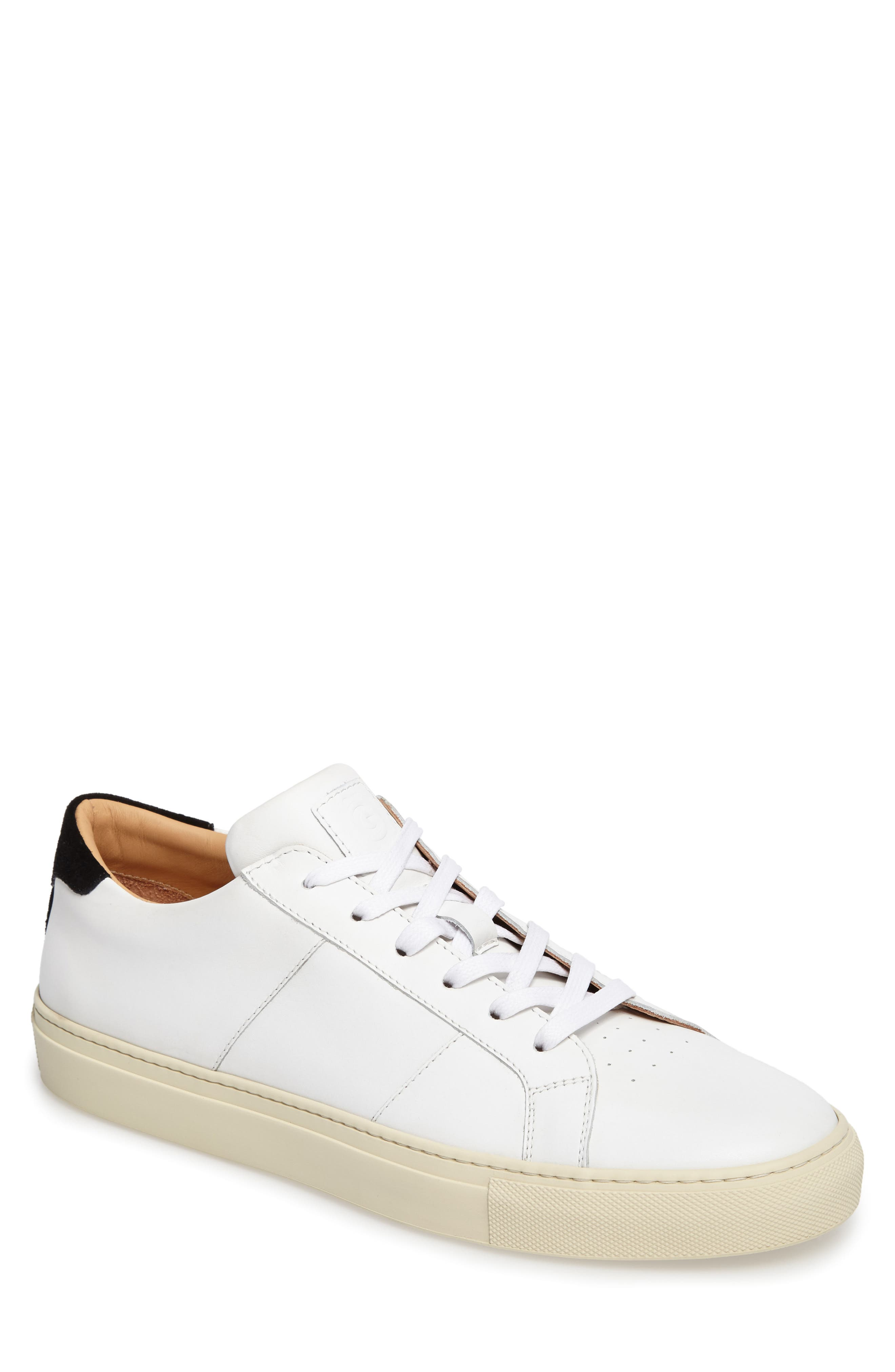 Royale Vintage Low Top Sneaker,                         Main,                         color, White/ Cream/ Black Leather