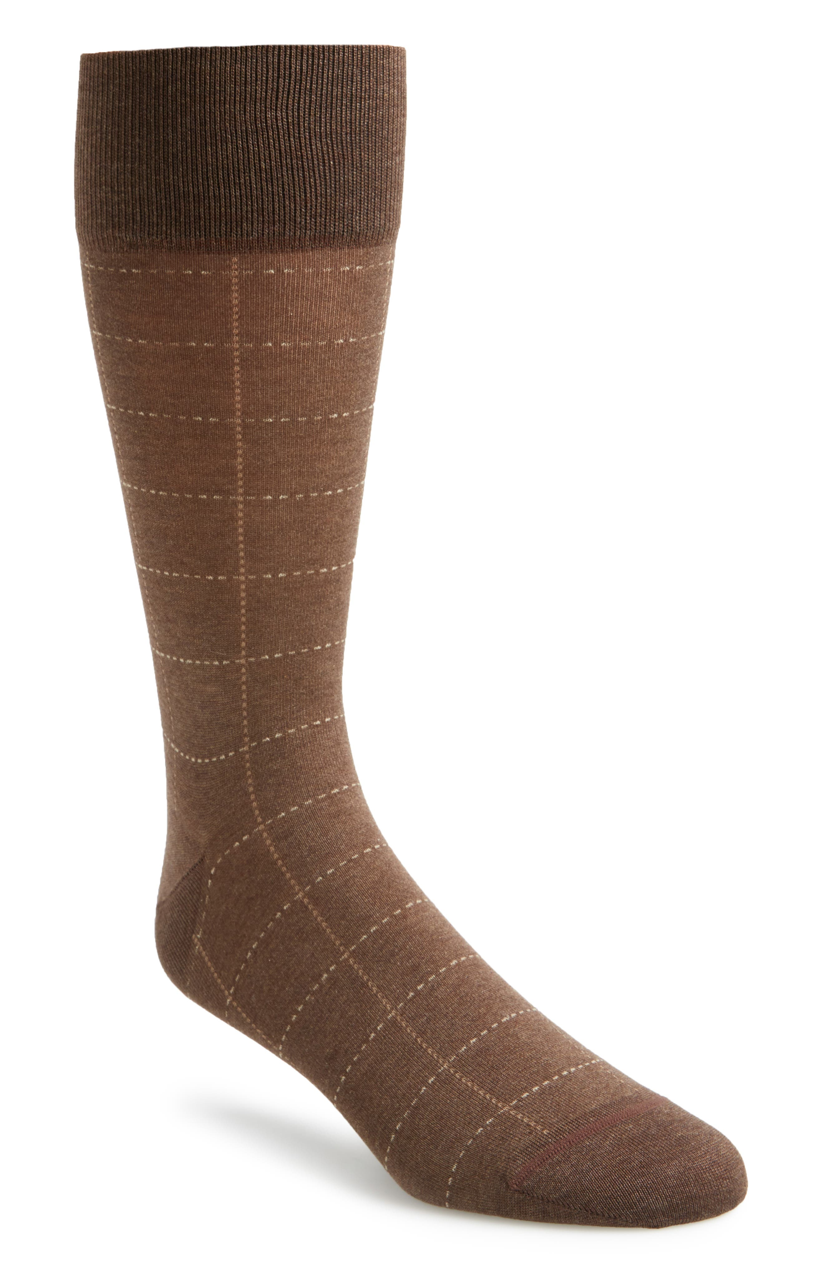 Alternate Image 1 Selected - John W. Nordstrom® Broken Grid Socks