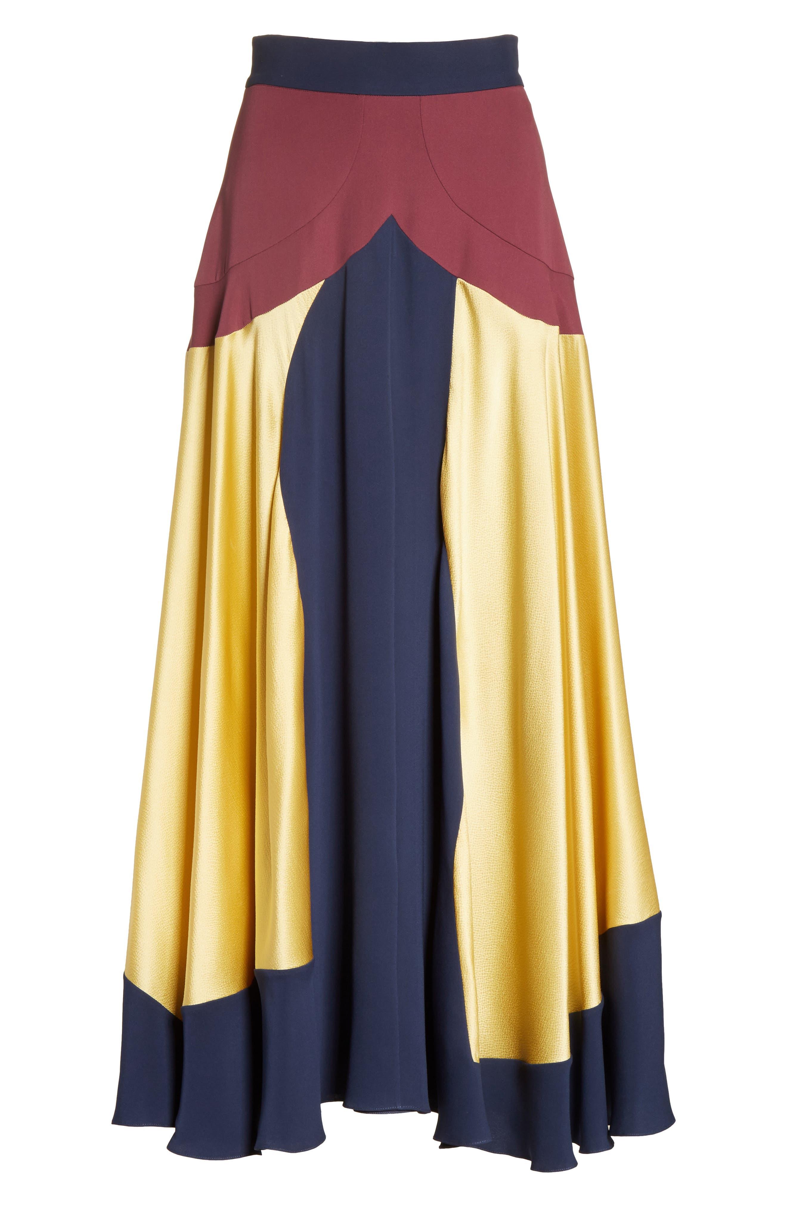Rania Skirt,                             Alternate thumbnail 6, color,                             Sorbet/ Plum/ Navy