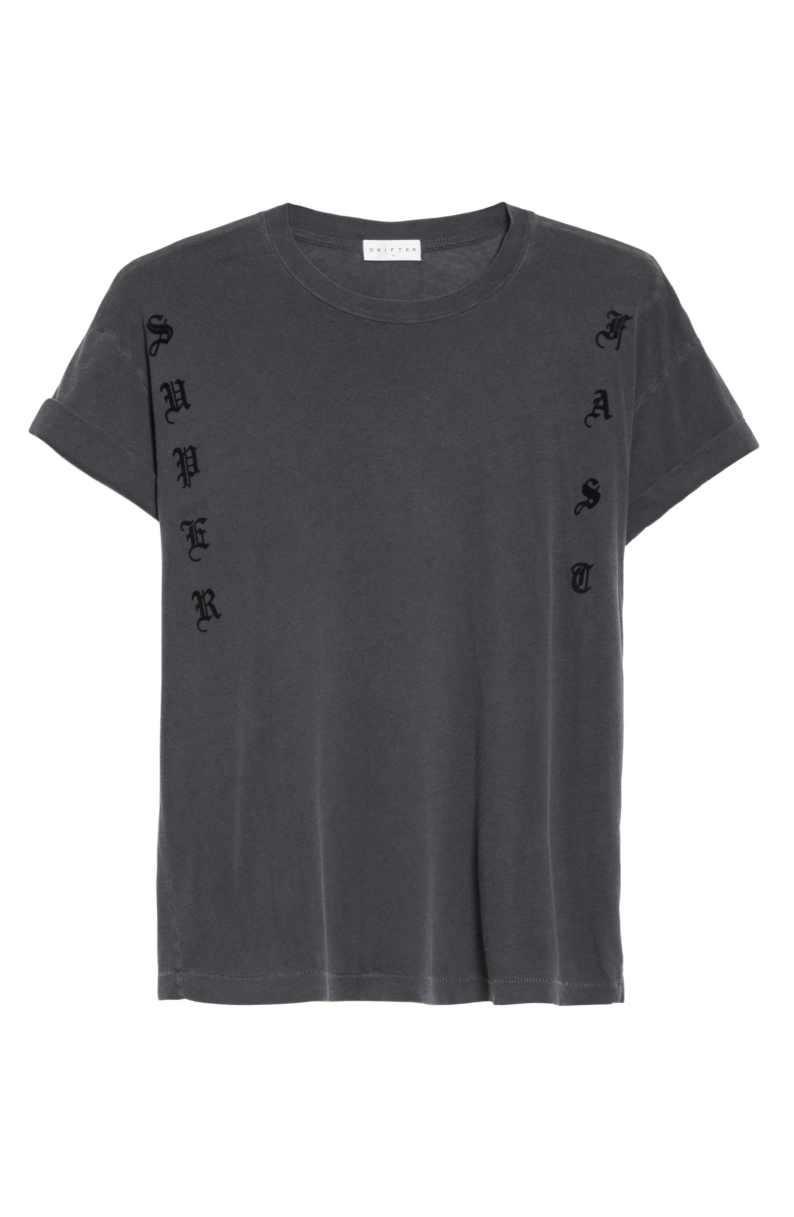 Abassi Embroidered T-Shirt,                             Alternate thumbnail 6, color,                             Blk Pigment