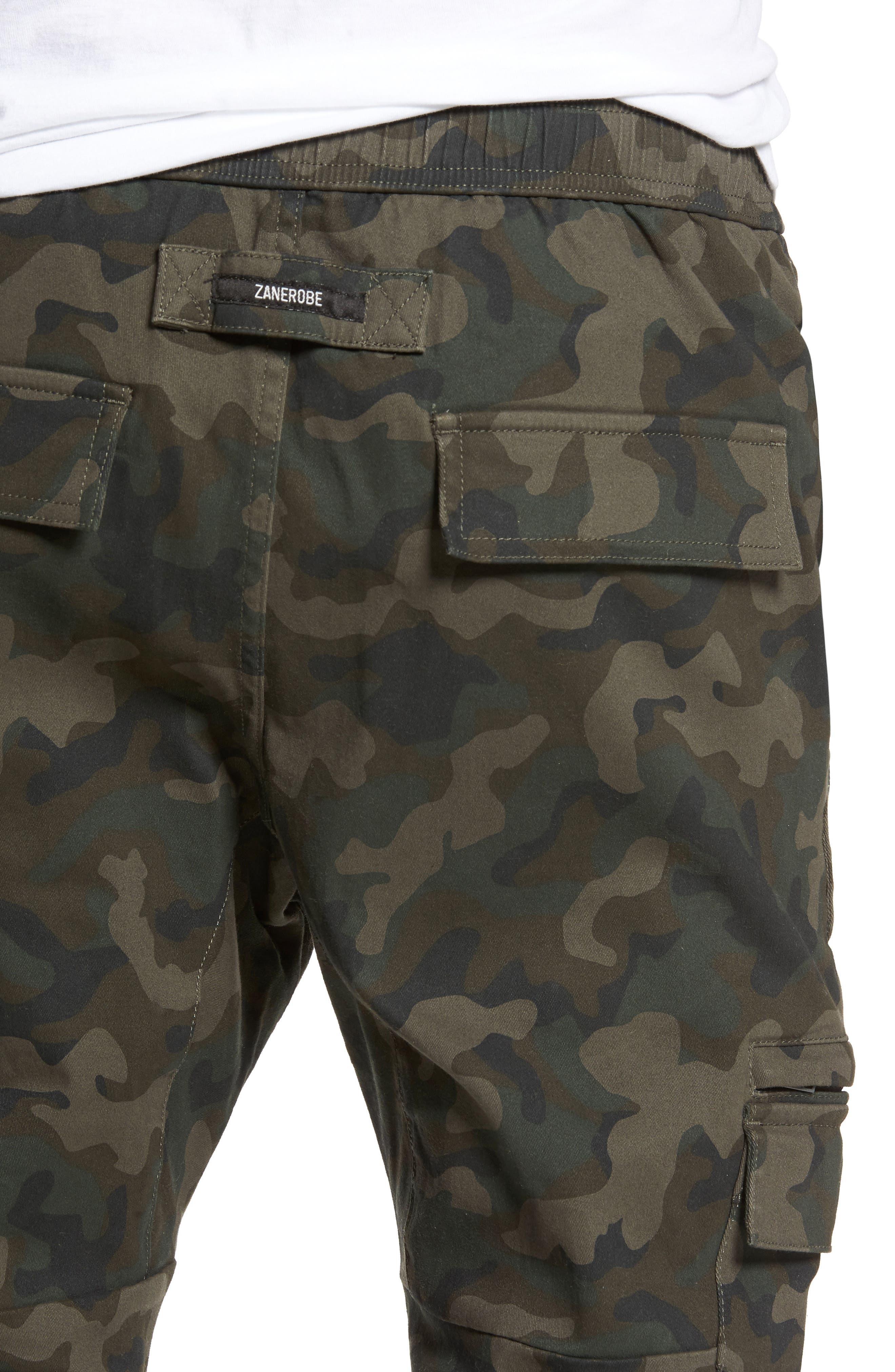 Sureshot Cargo Jogger Pants,                             Alternate thumbnail 4, color,                             Dark Camo