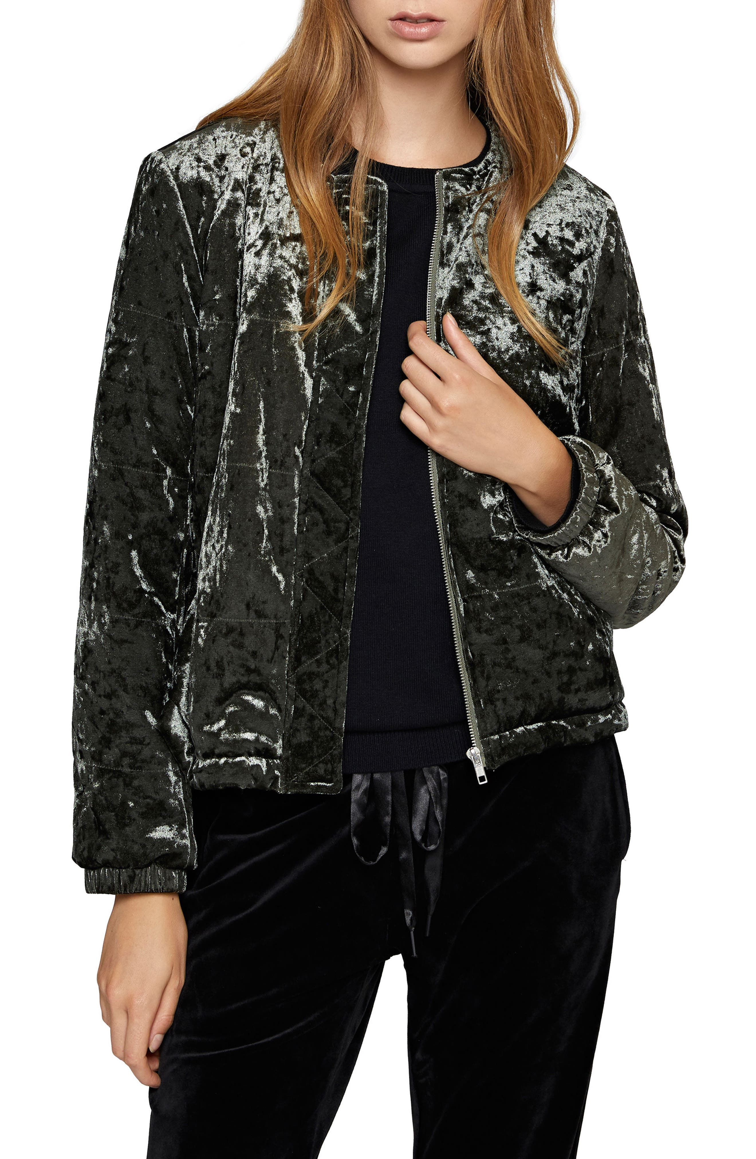All You Need Is Me Velvet Jacket,                         Main,                         color, Dark Fatigue