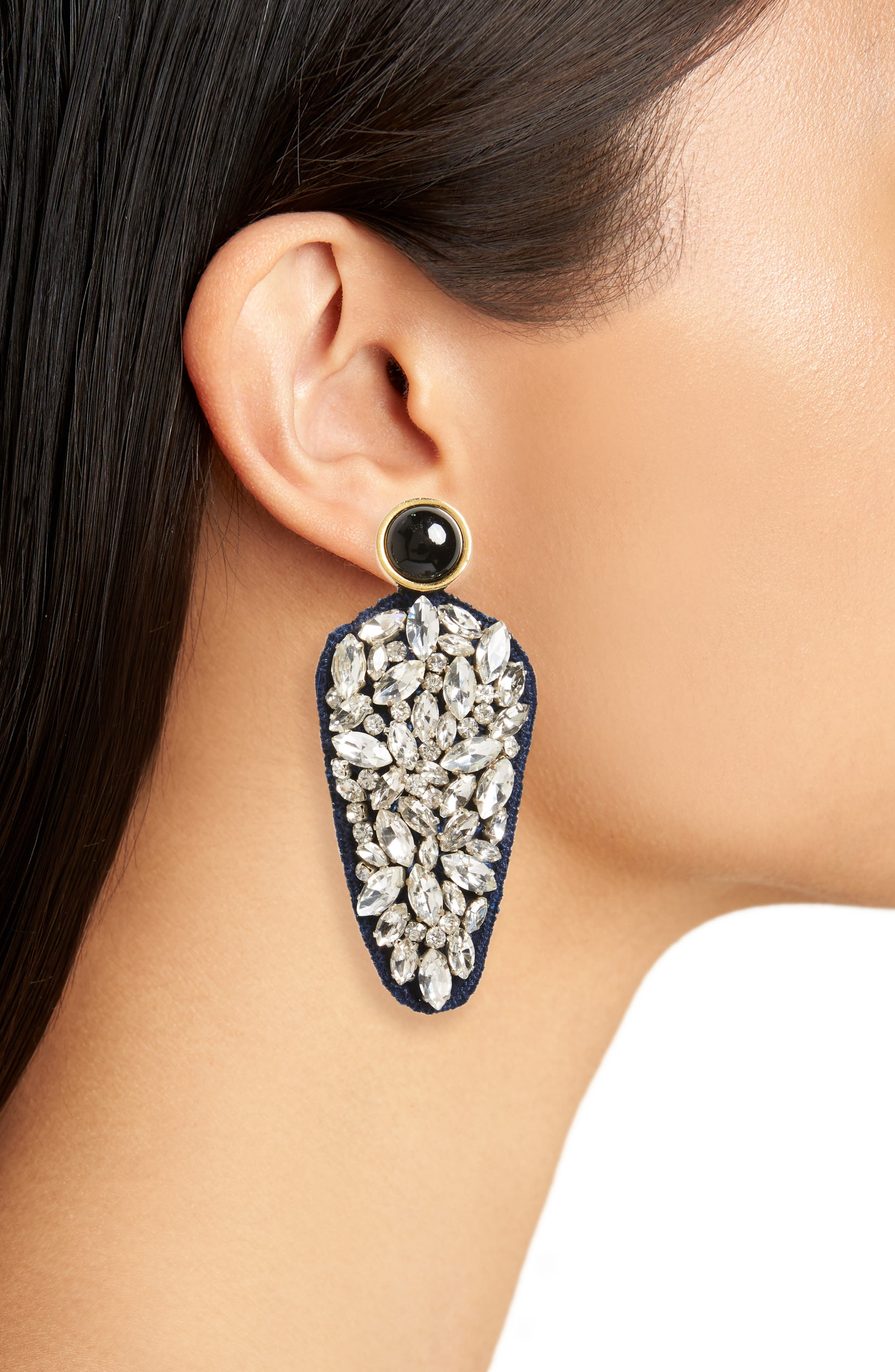 Alternate Image 2  - Lizzie Fortunato Crystal Dagger Drop Earrings