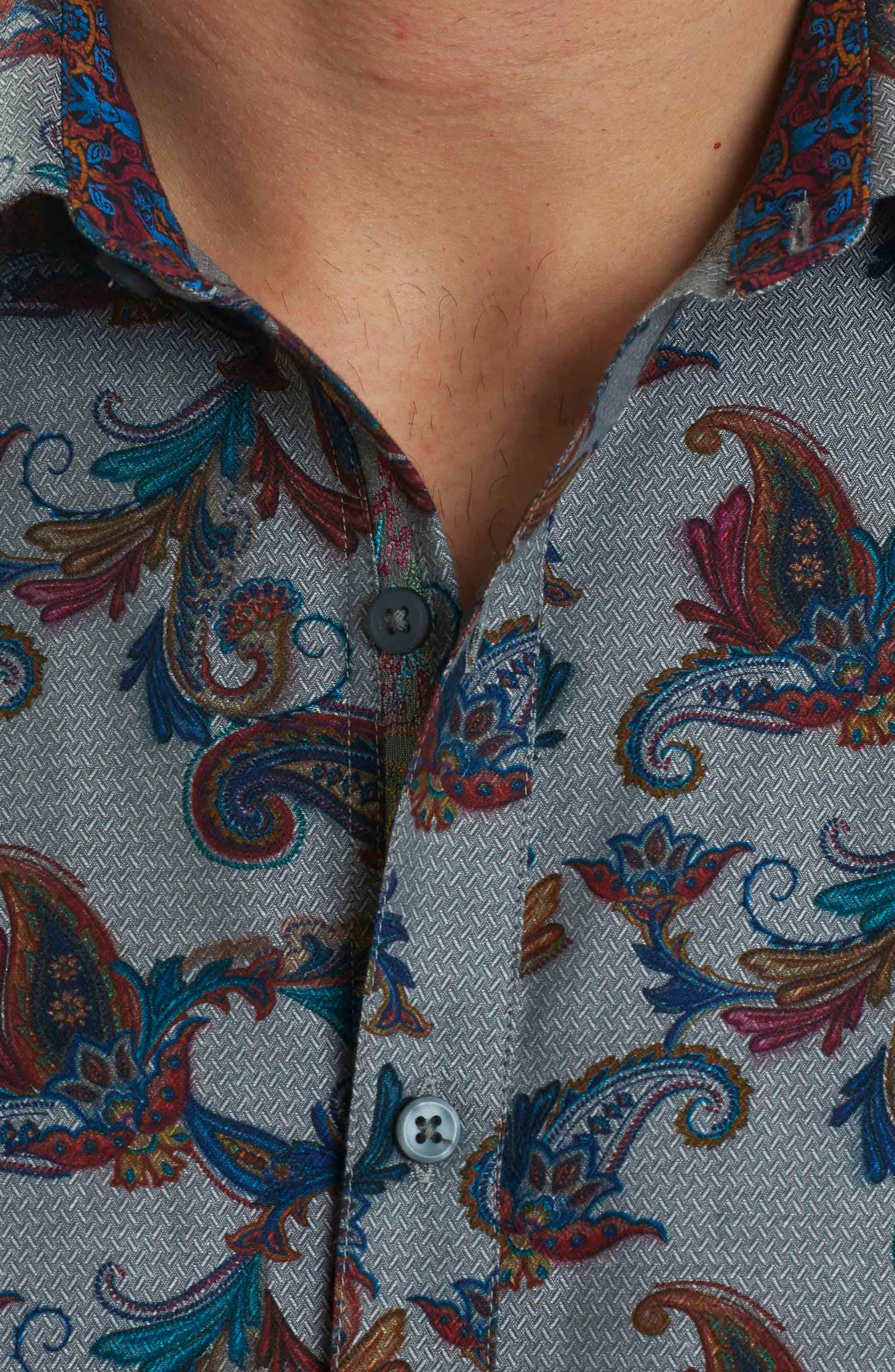 Alternate Image 4  - Robert Graham Massif Print Sport Shirt