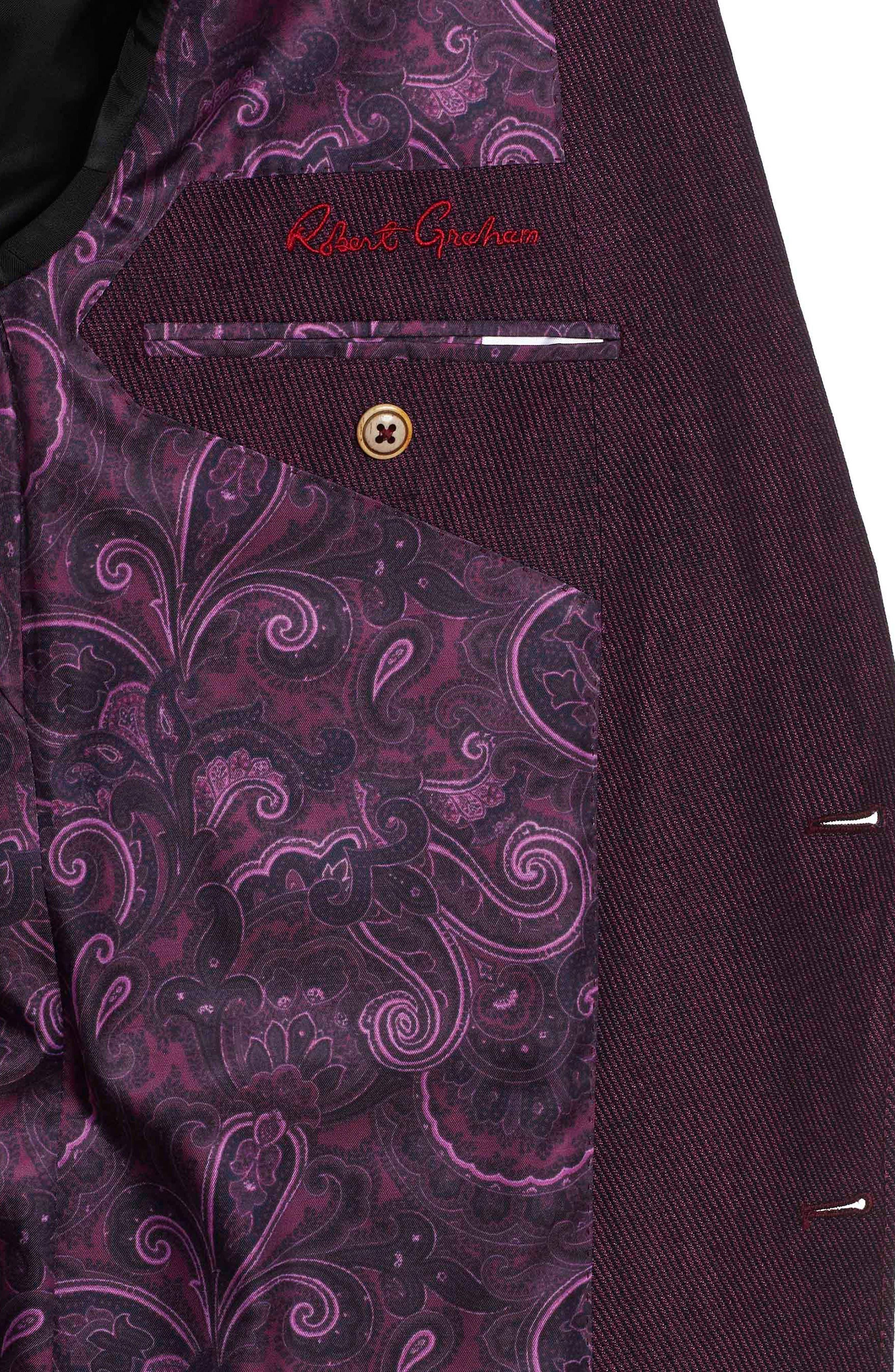 On the Road Linen & Wool Jacket,                             Alternate thumbnail 5, color,                             Raspberry