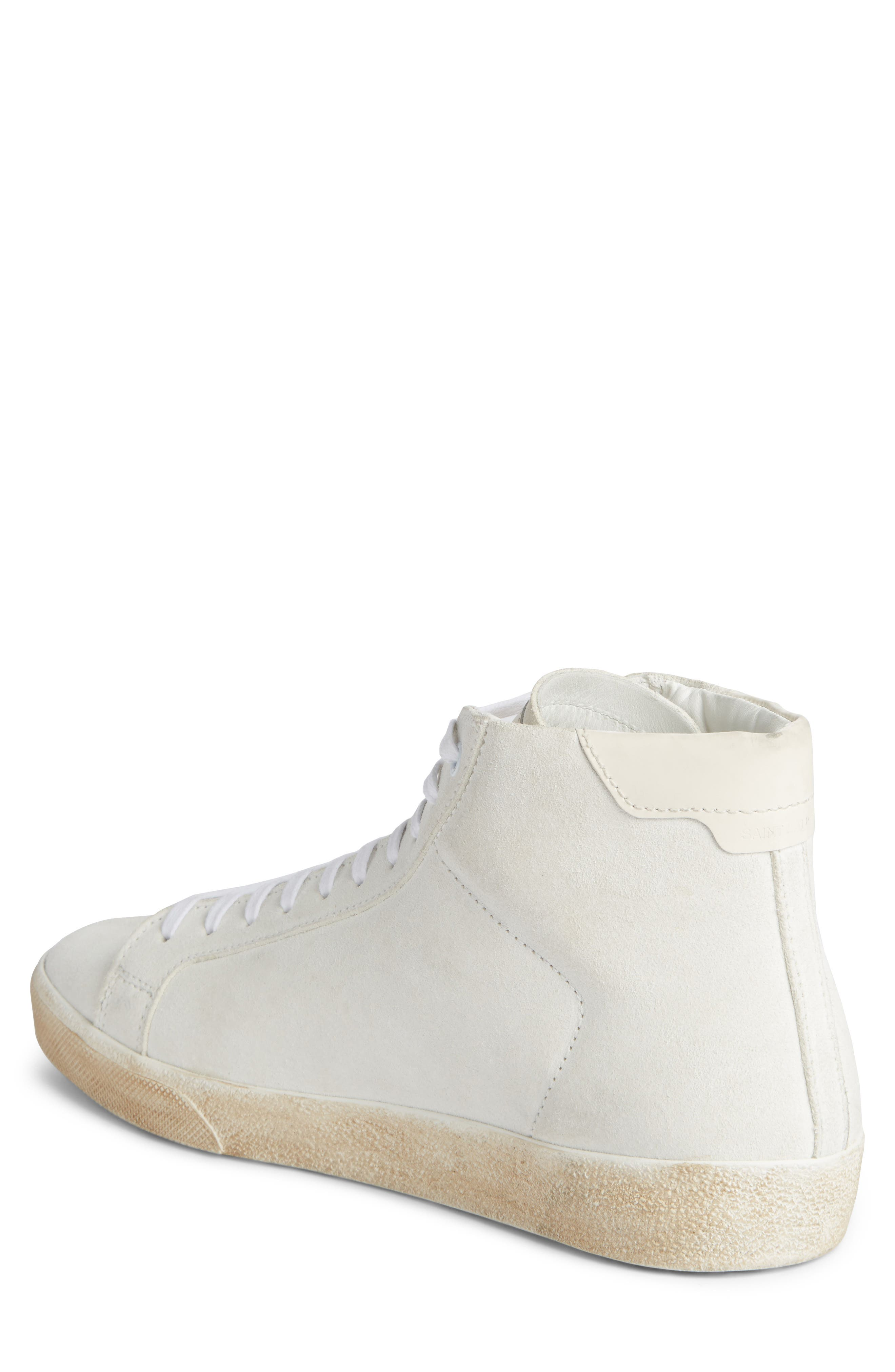 High Top Sneaker,                             Alternate thumbnail 2, color,                             White Canvas