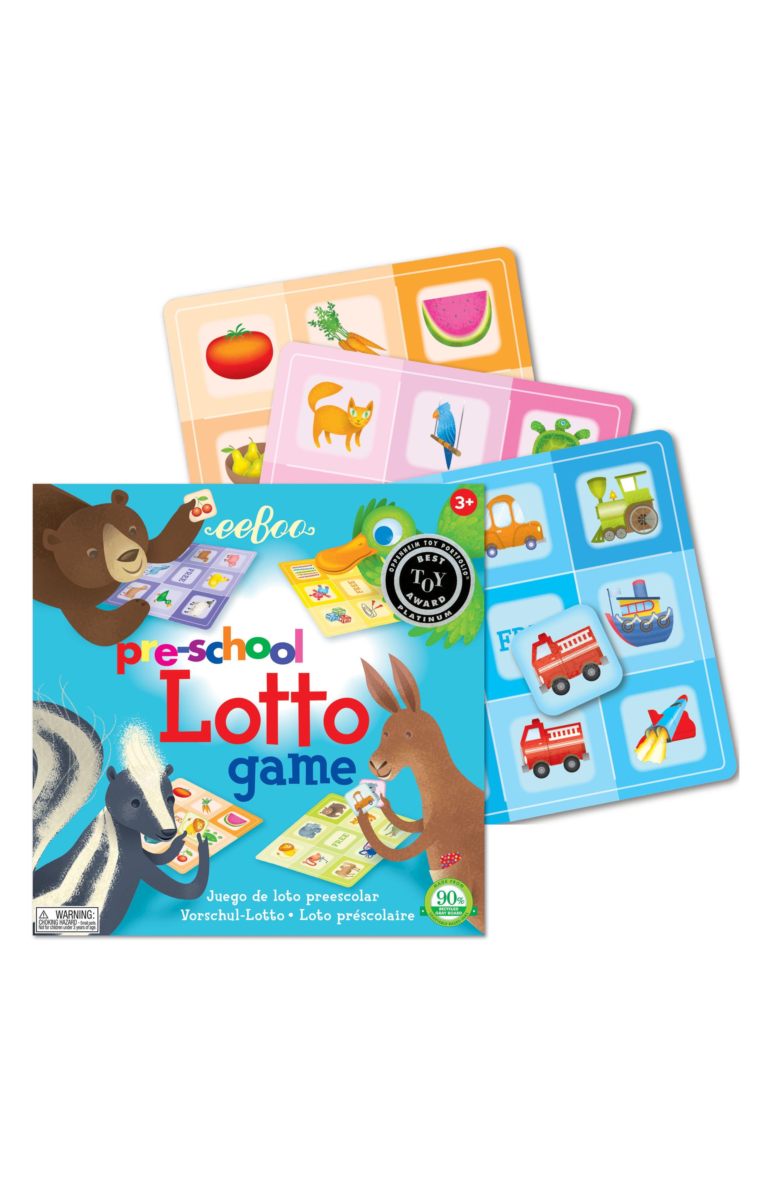 42-Piece Preschool Lotto Game,                             Alternate thumbnail 2, color,                             Multi