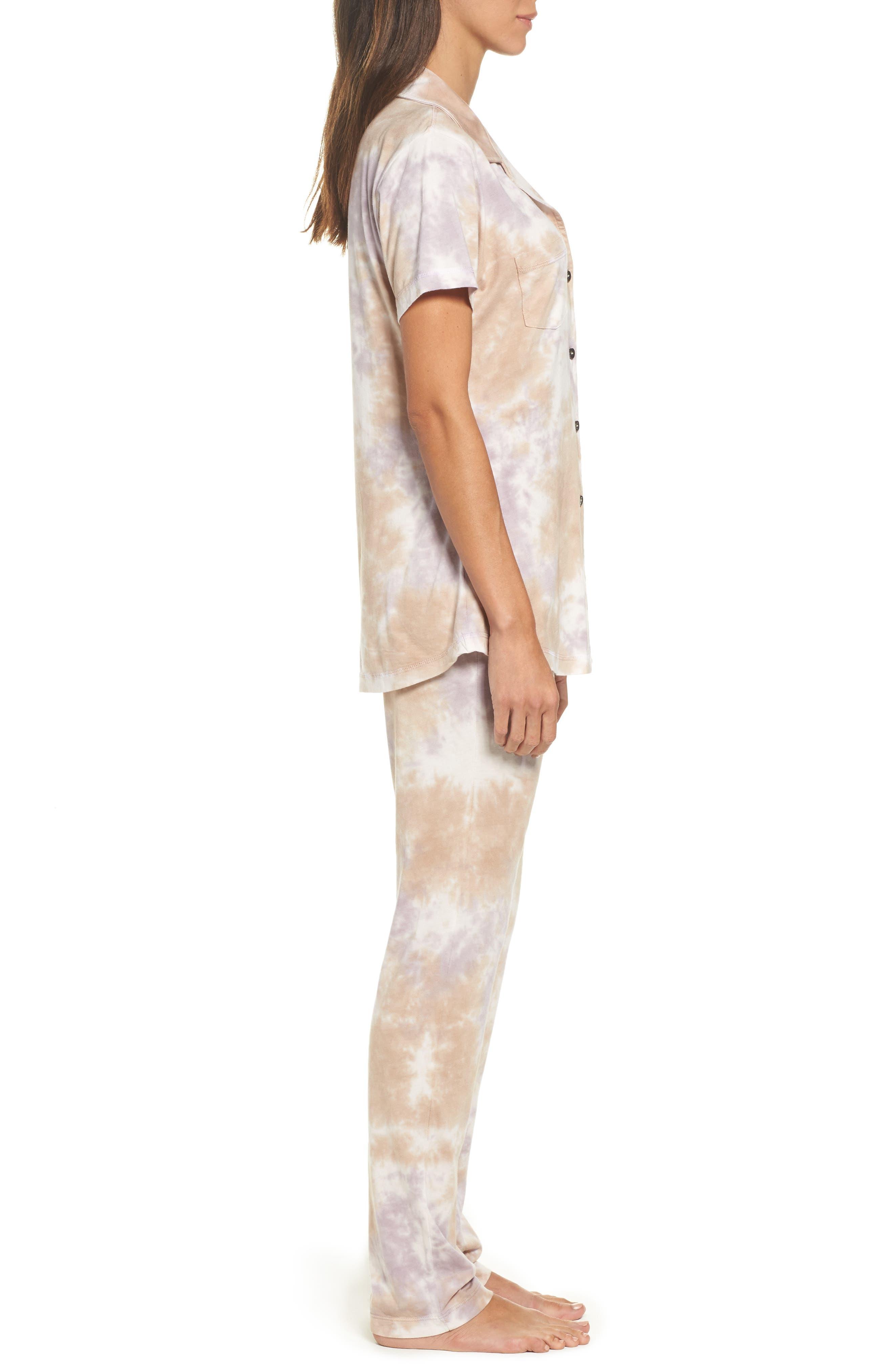 Christine Slim Leg Pajamas,                             Alternate thumbnail 3, color,                             Ash Violet