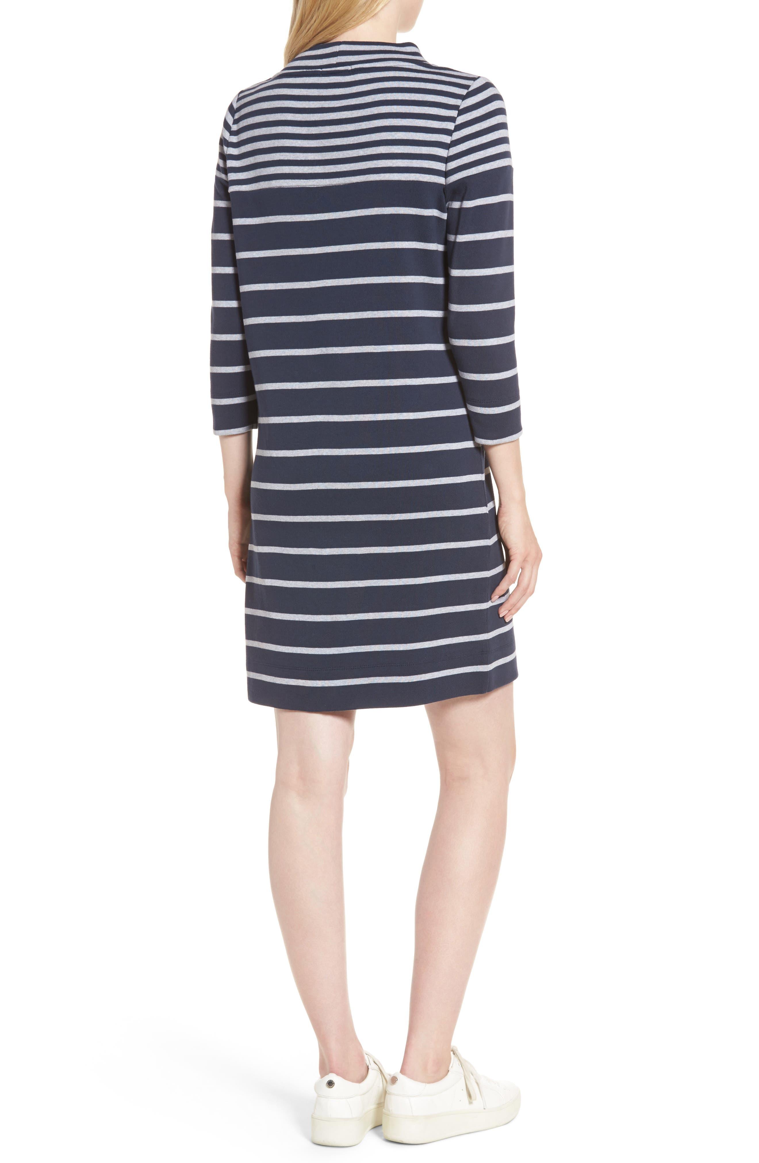 Seaburn Stripe Shift Dress,                             Alternate thumbnail 2, color,                             Navy
