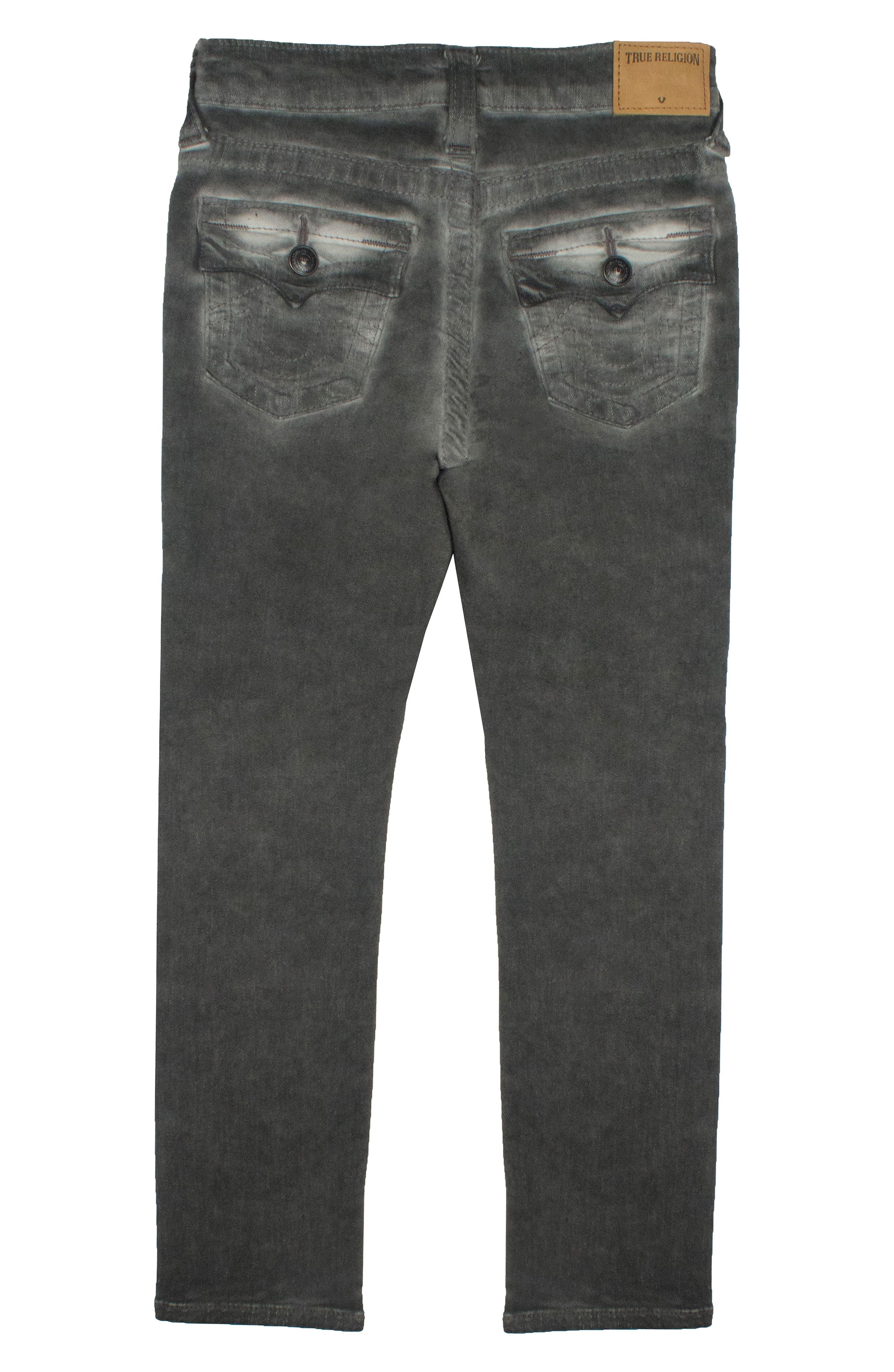 Rocco Single End Jeans,                             Alternate thumbnail 2, color,                             Grey Patched