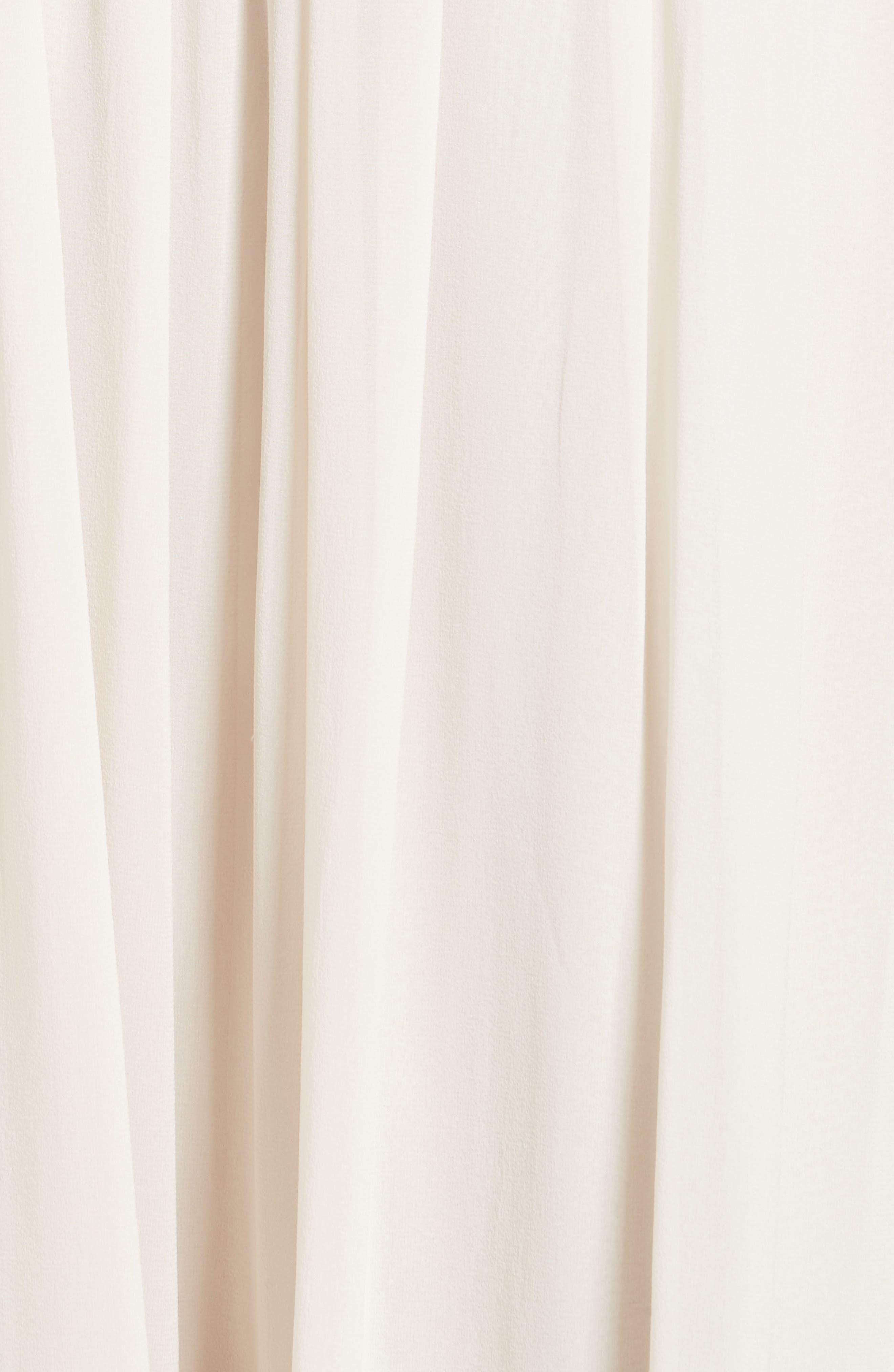 Pleated Chiffon Midi Skirt,                             Alternate thumbnail 7, color,                             Ecru