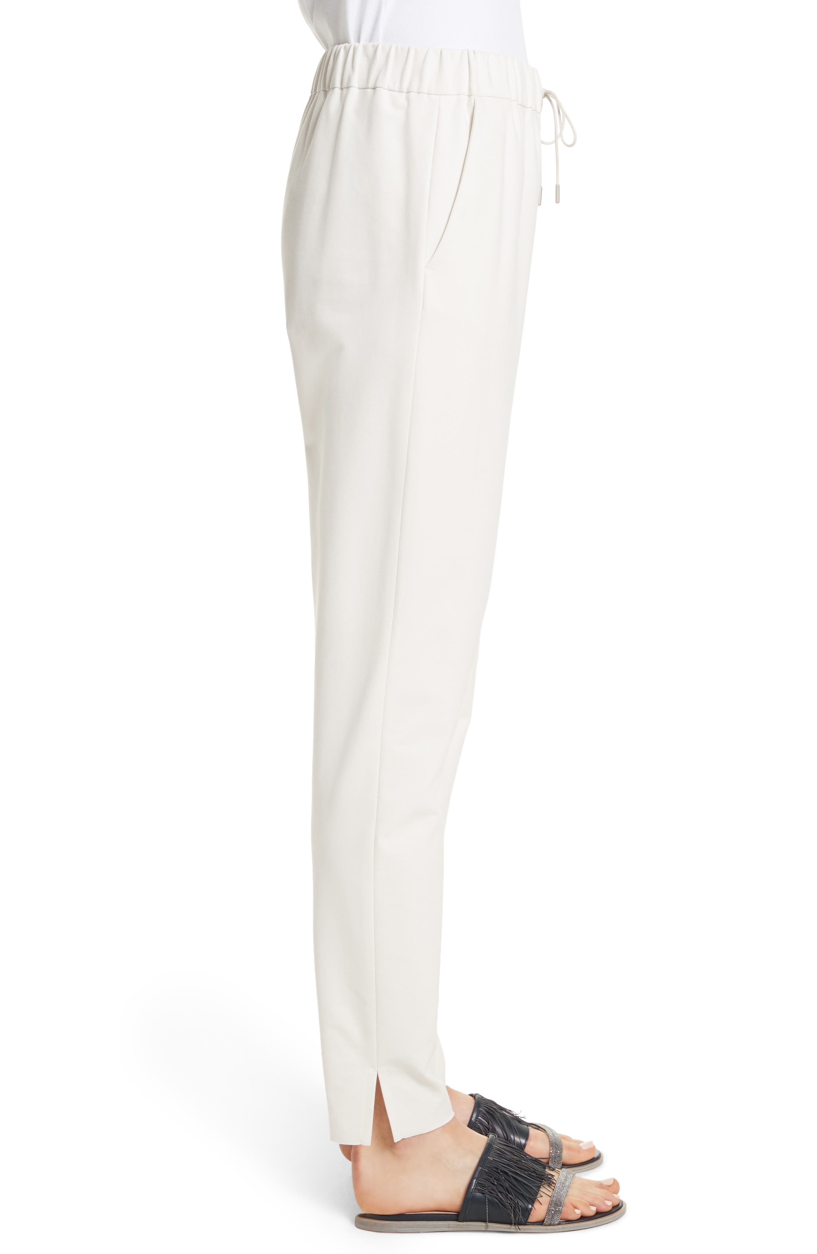 Rodier Jersey Joggers,                             Alternate thumbnail 8, color,                             Ivory