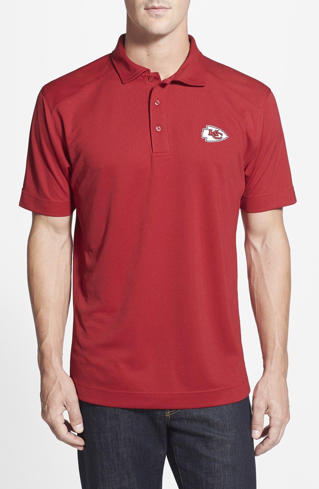 Kansas City Chiefs - Genre DryTec Moisture Wicking Polo,                         Main,                         color, Cardinal Red